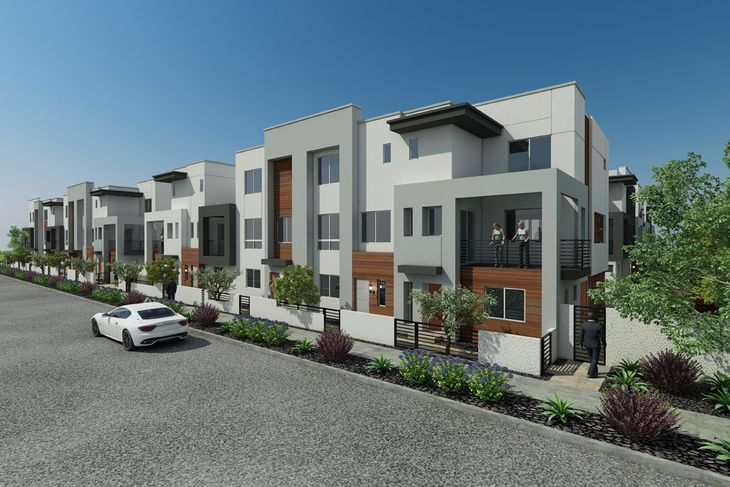New homes:Uniquely designed town homes in gated community