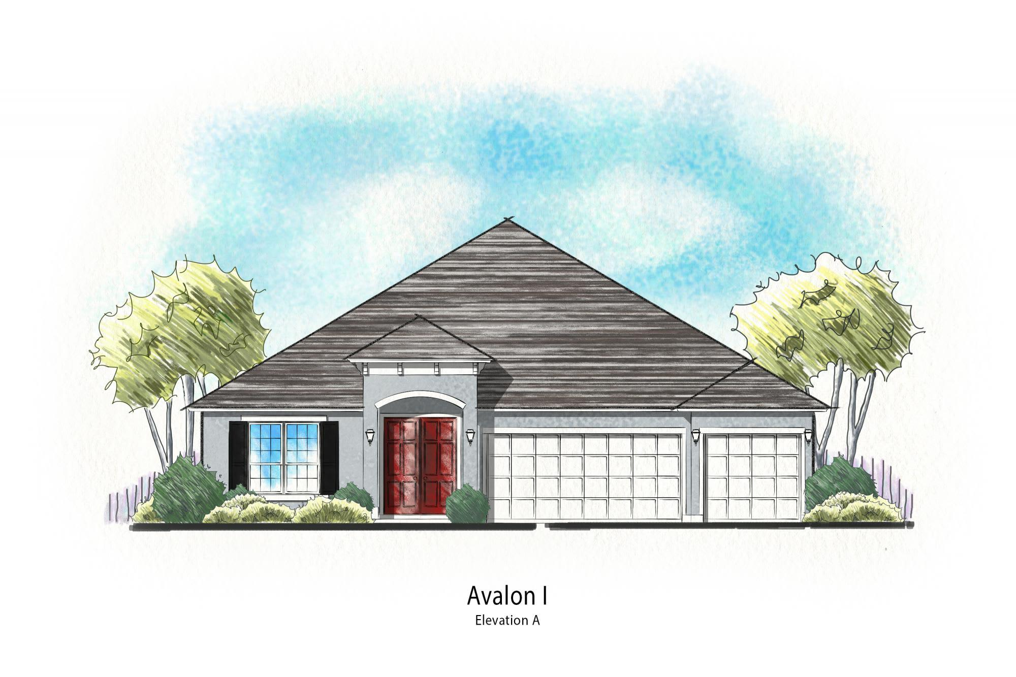 Exterior featured in The Avalon Plan By Dream Home Finders in Jacksonville-St. Augustine, FL