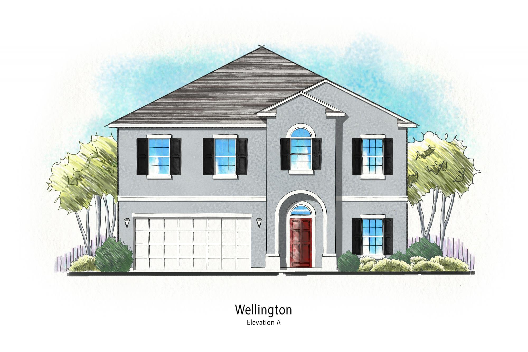 Exterior featured in The Wellington Plan By Dream Home Finders in Jacksonville-St. Augustine, FL