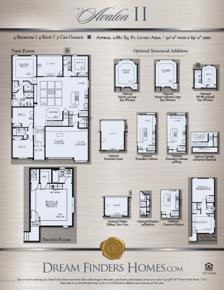Bedroom featured in The Avalon II Plan By Dream Home Finders in Jacksonville-St. Augustine, FL