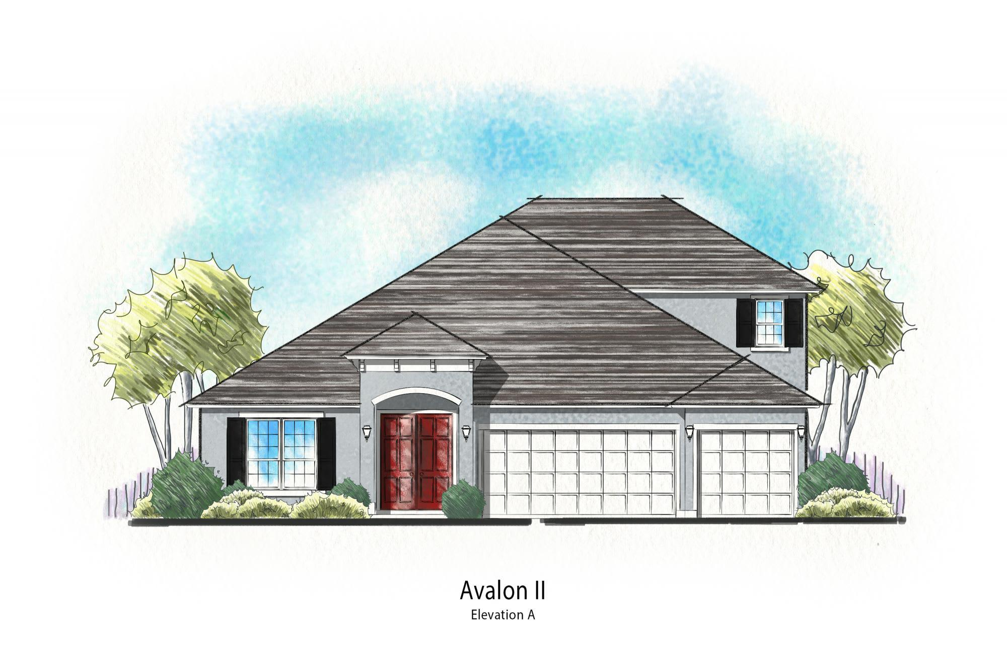 Exterior featured in the Avalon II By Dream Finders Homes in Jacksonville-St. Augustine, FL
