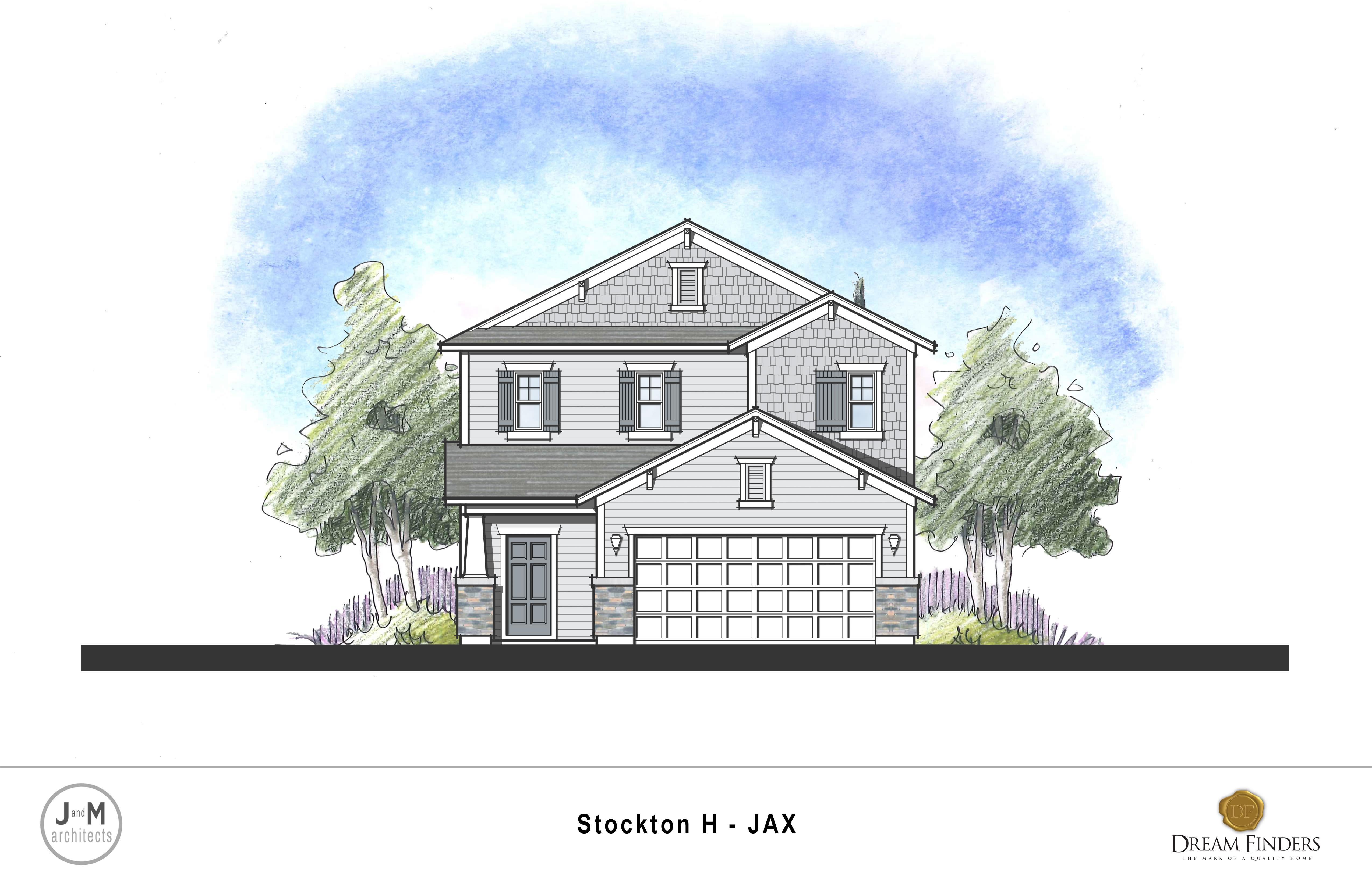 Exterior featured in the Stockton By Dream Finders Homes in Jacksonville-St. Augustine, FL