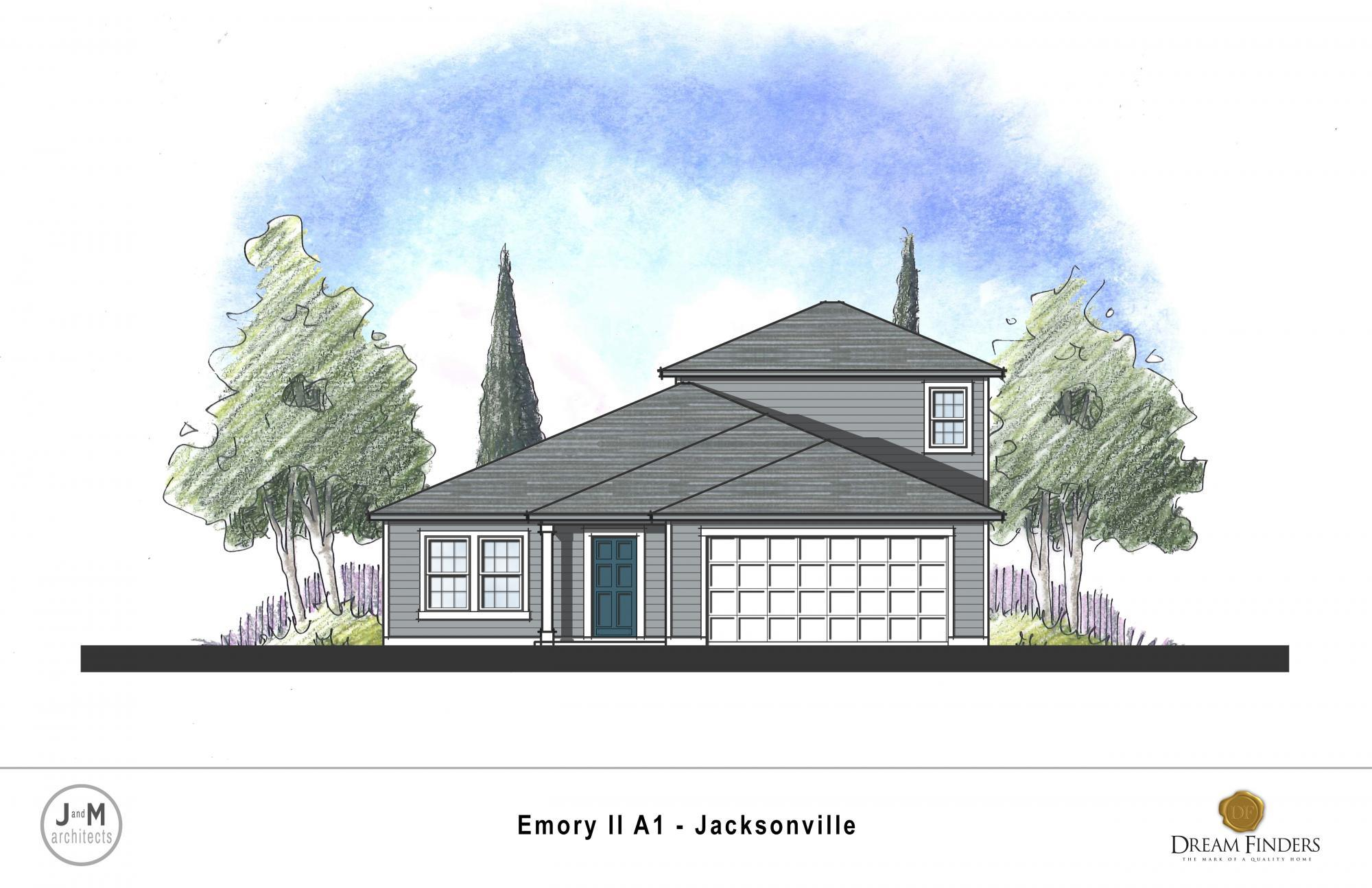 Exterior featured in the Emory II By Dream Finders Homes in Jacksonville-St. Augustine, FL