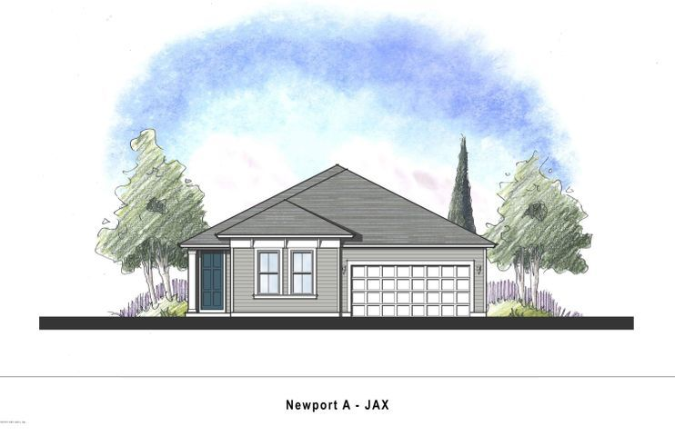 Exterior featured in the Newport By Dream Finders Homes in Jacksonville-St. Augustine, FL