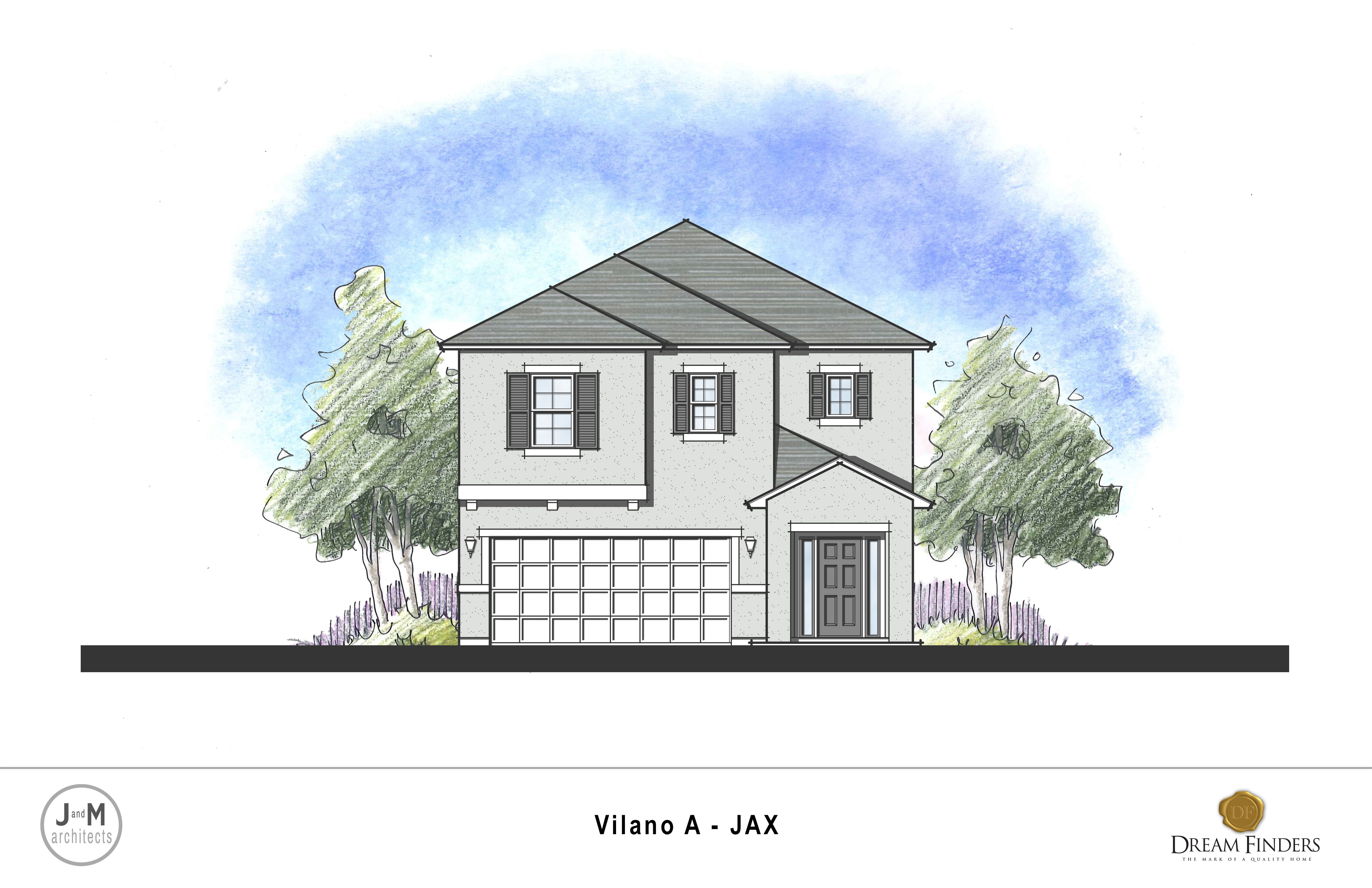 Exterior featured in the Vilano By Dream Finders Homes in Jacksonville-St. Augustine, FL
