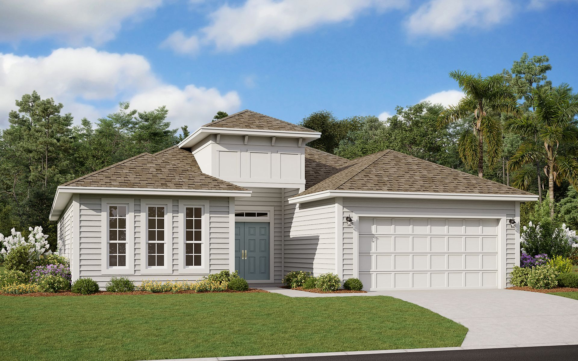 Exterior featured in the Camden II By Dream Finders Homes in Daytona Beach, FL