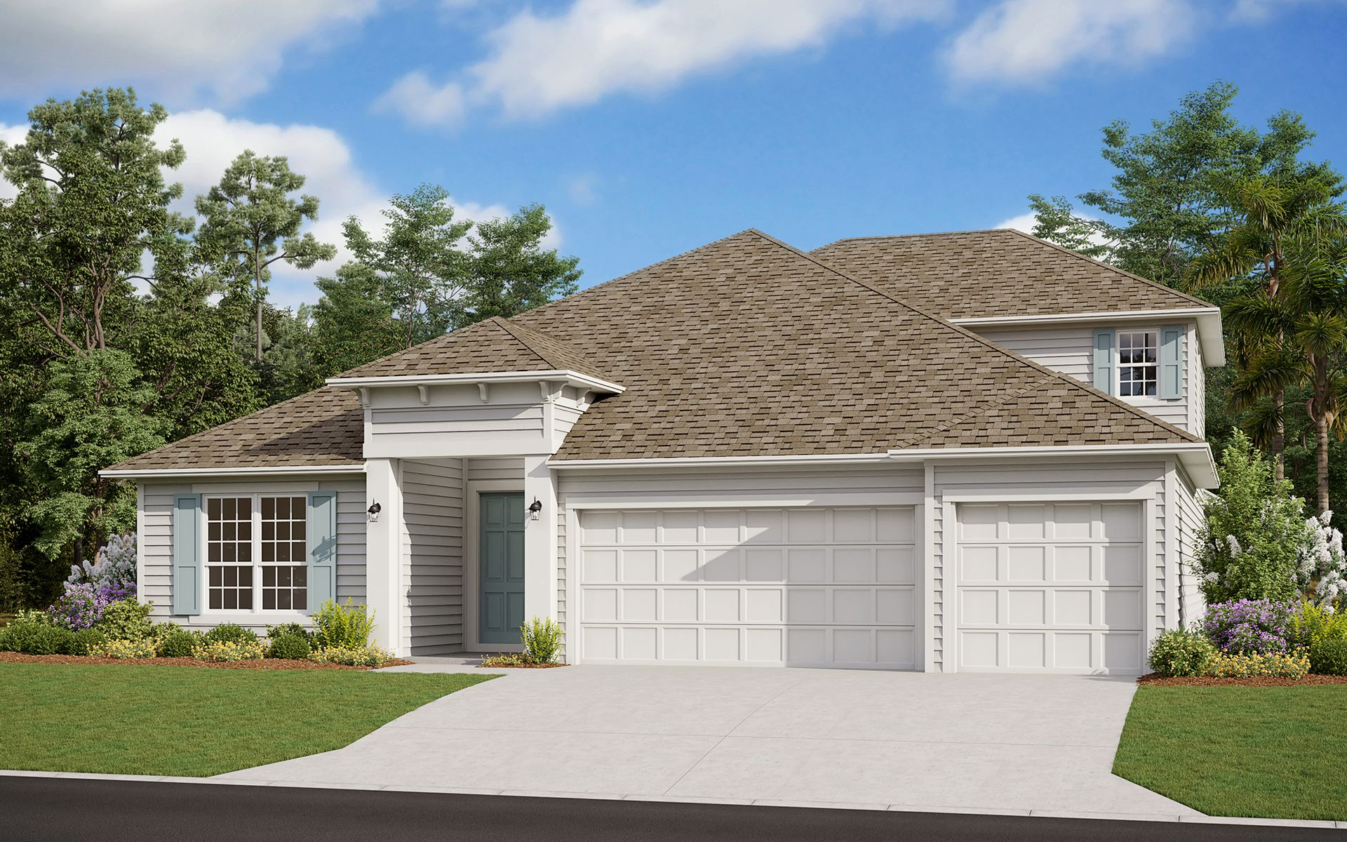 Exterior featured in the Avalon II By Dream Finders Homes in Daytona Beach, FL