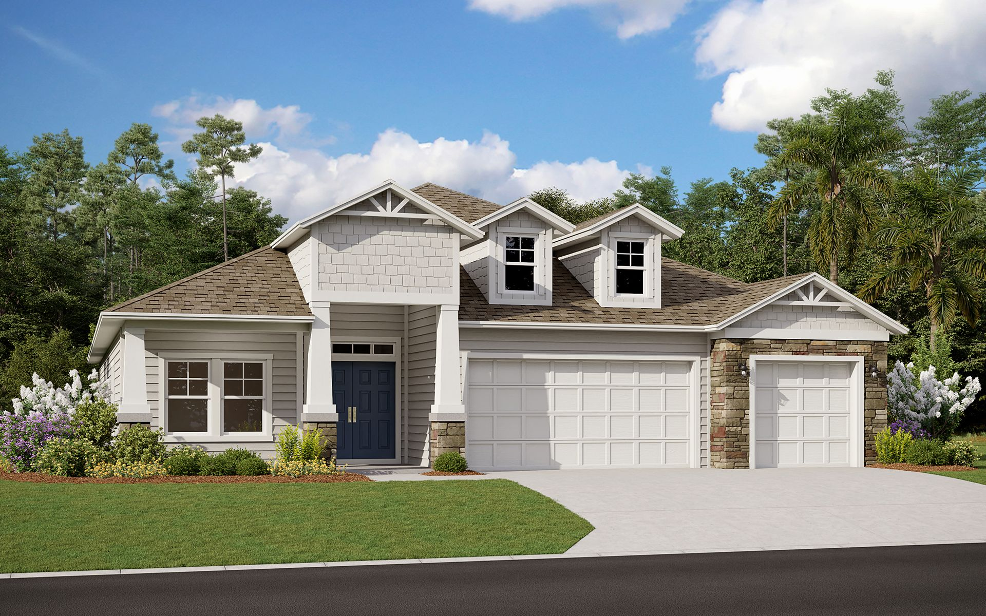 Exterior featured in the Boca By Dream Finders Homes in Jacksonville-St. Augustine, FL