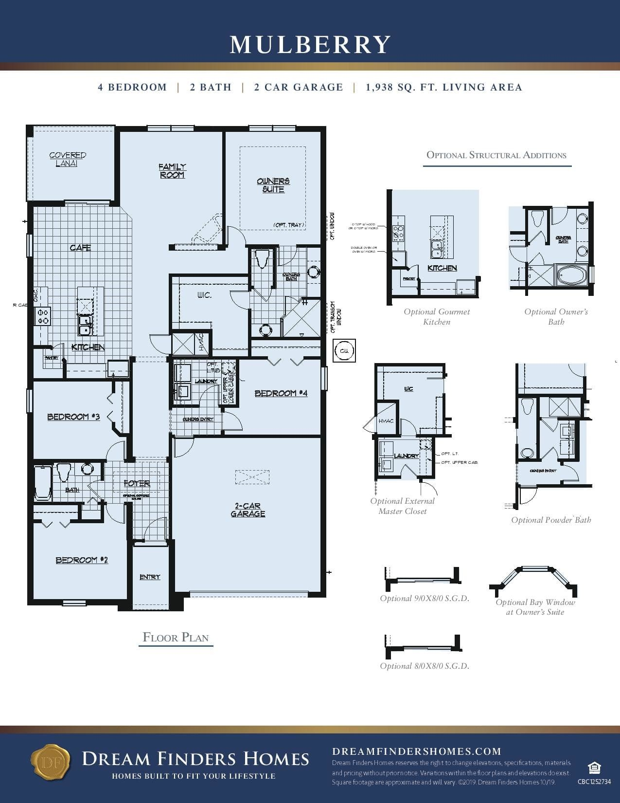 Mulberry Plan At Fernanda Place In Deltona Fl By Dream Finders Homes