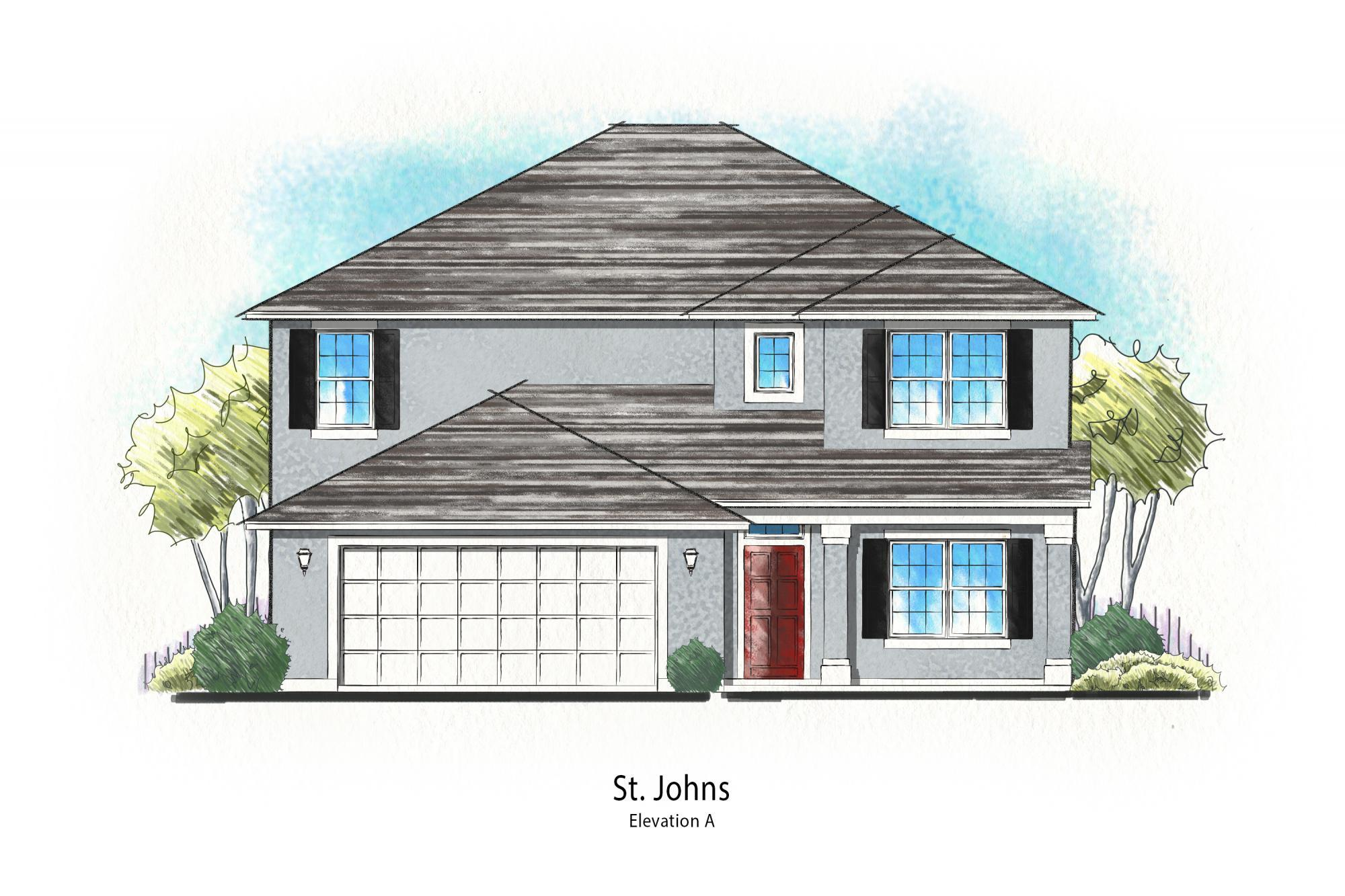 Exterior featured in the St. Johns By Dream Finders Homes in Savannah, GA