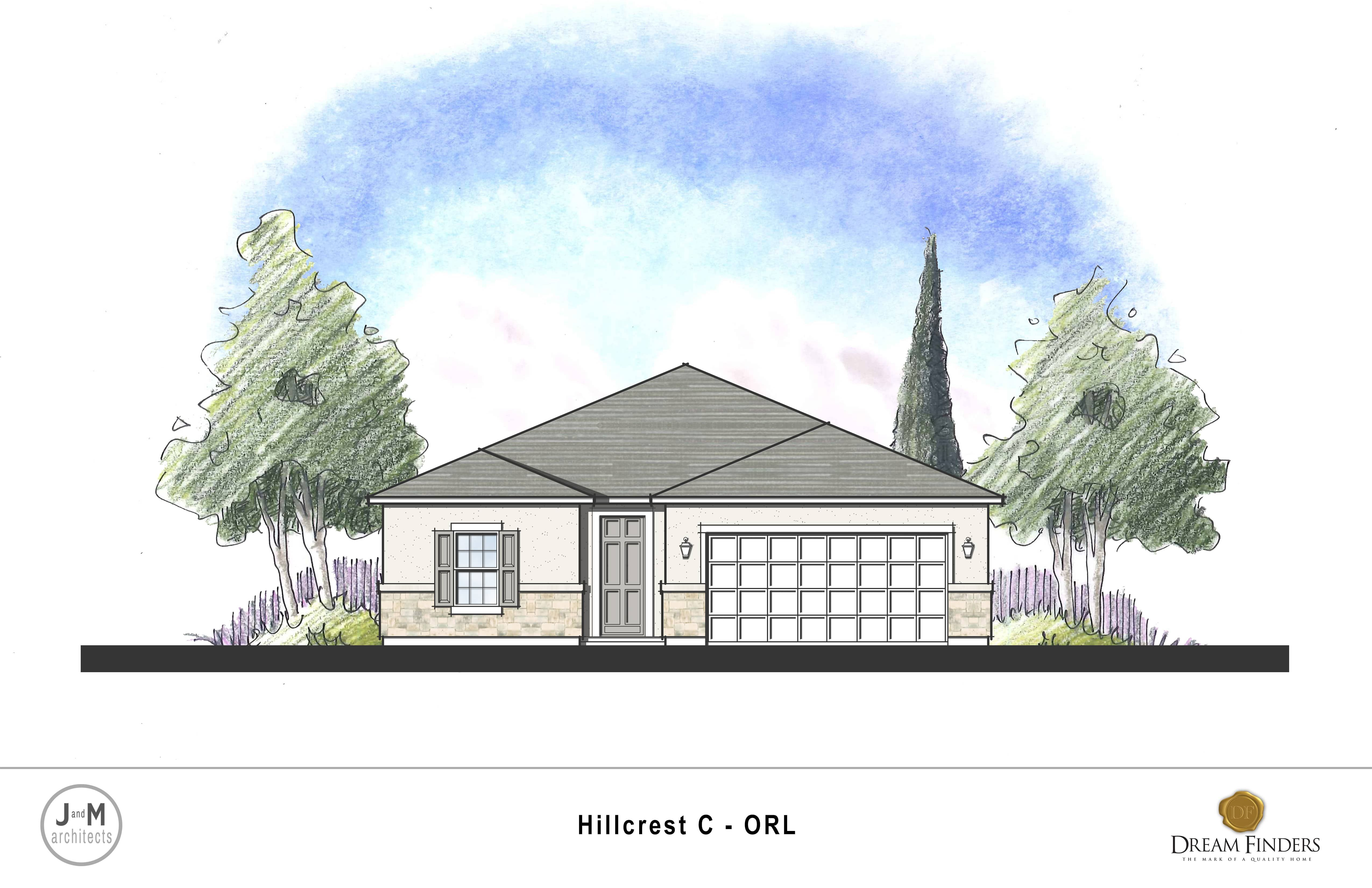 Exterior featured in the Hillcrest By Dream Finders Homes in Lakeland-Winter Haven, FL