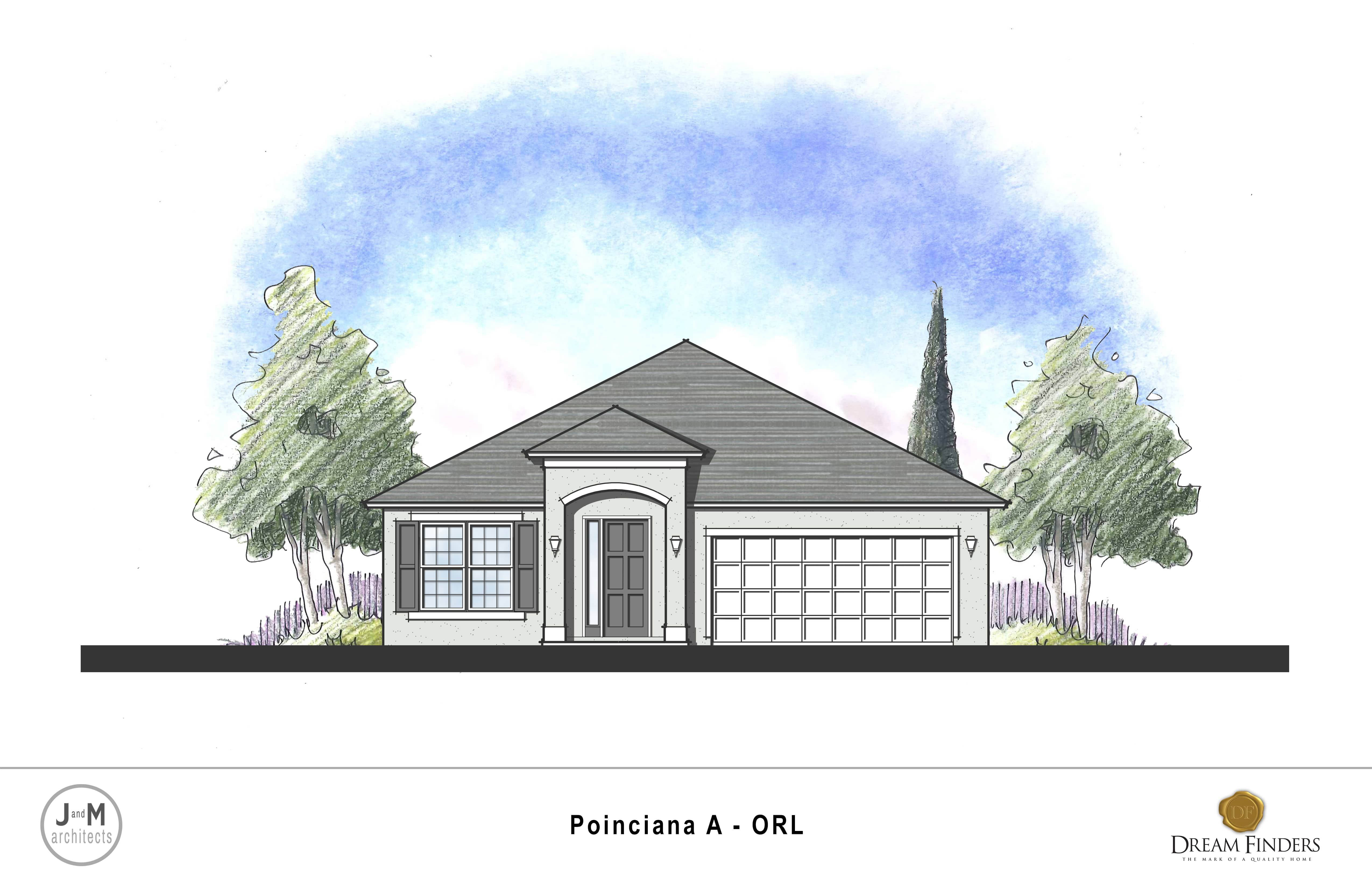 Exterior featured in the Poinciana By Dream Finders Homes in Daytona Beach, FL