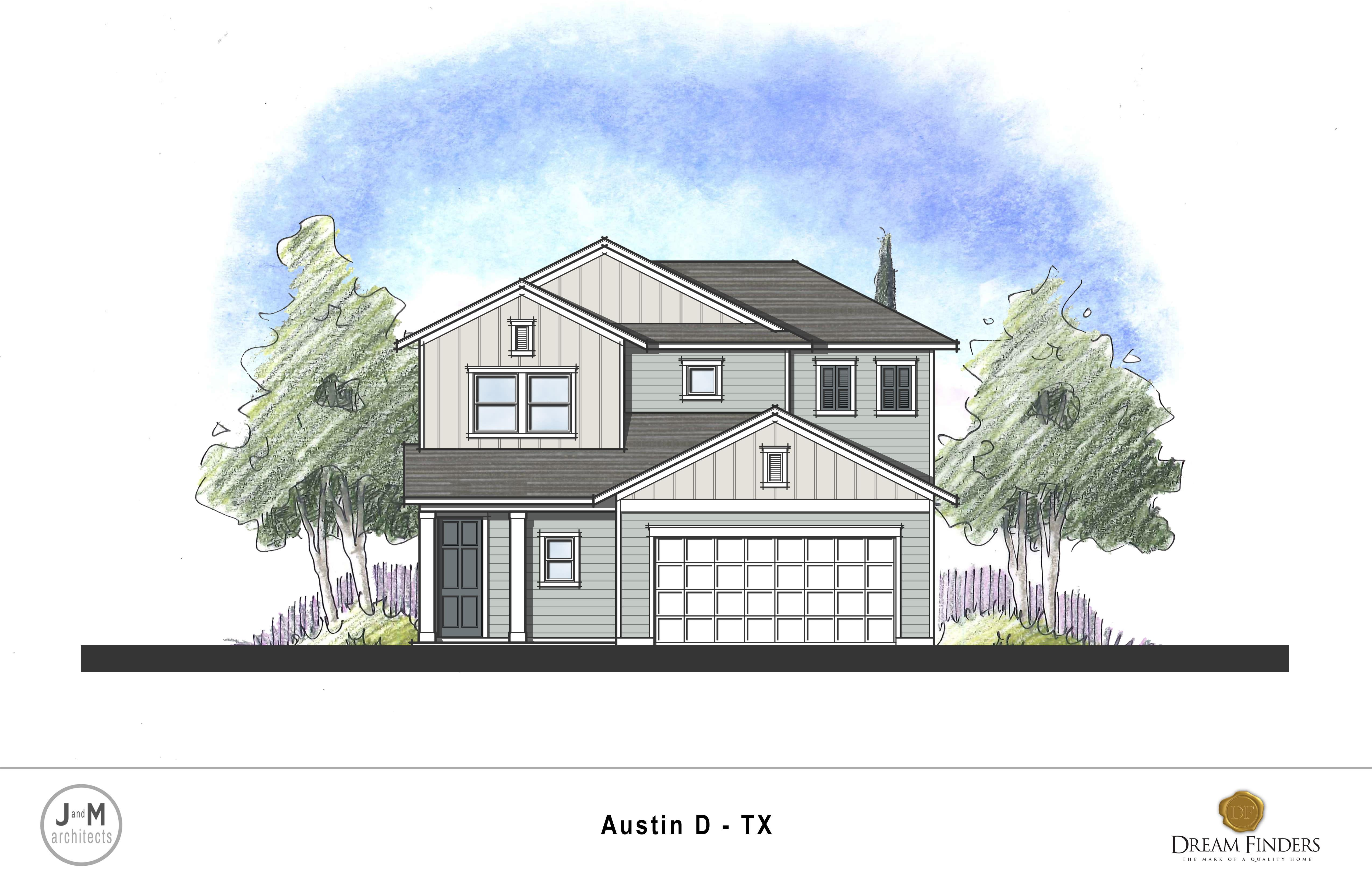 Exterior featured in the Austin By Dream Finders Homes in Austin, TX