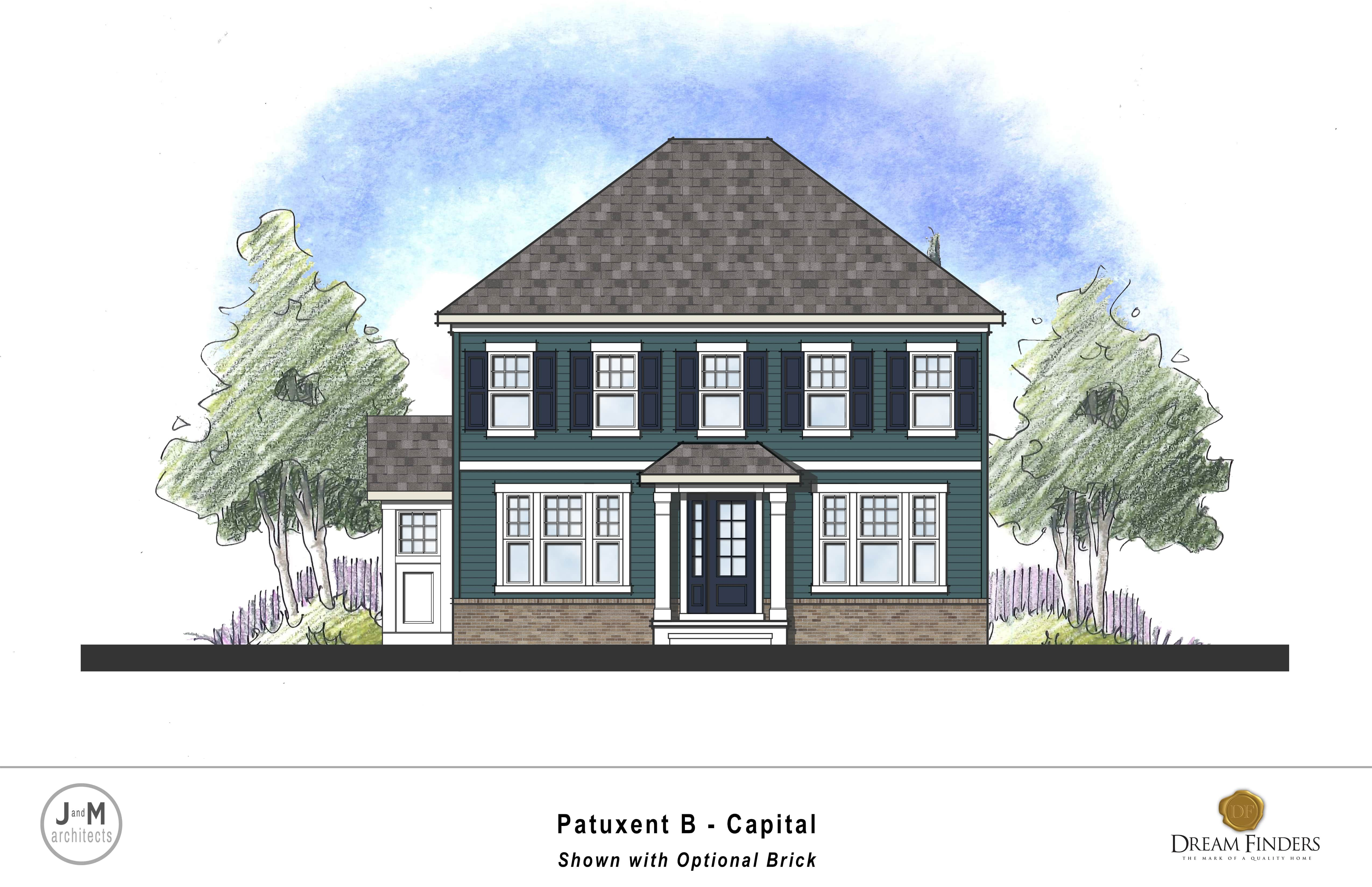 Exterior featured in the Patuxent By Dream Finders Homes in Washington, MD