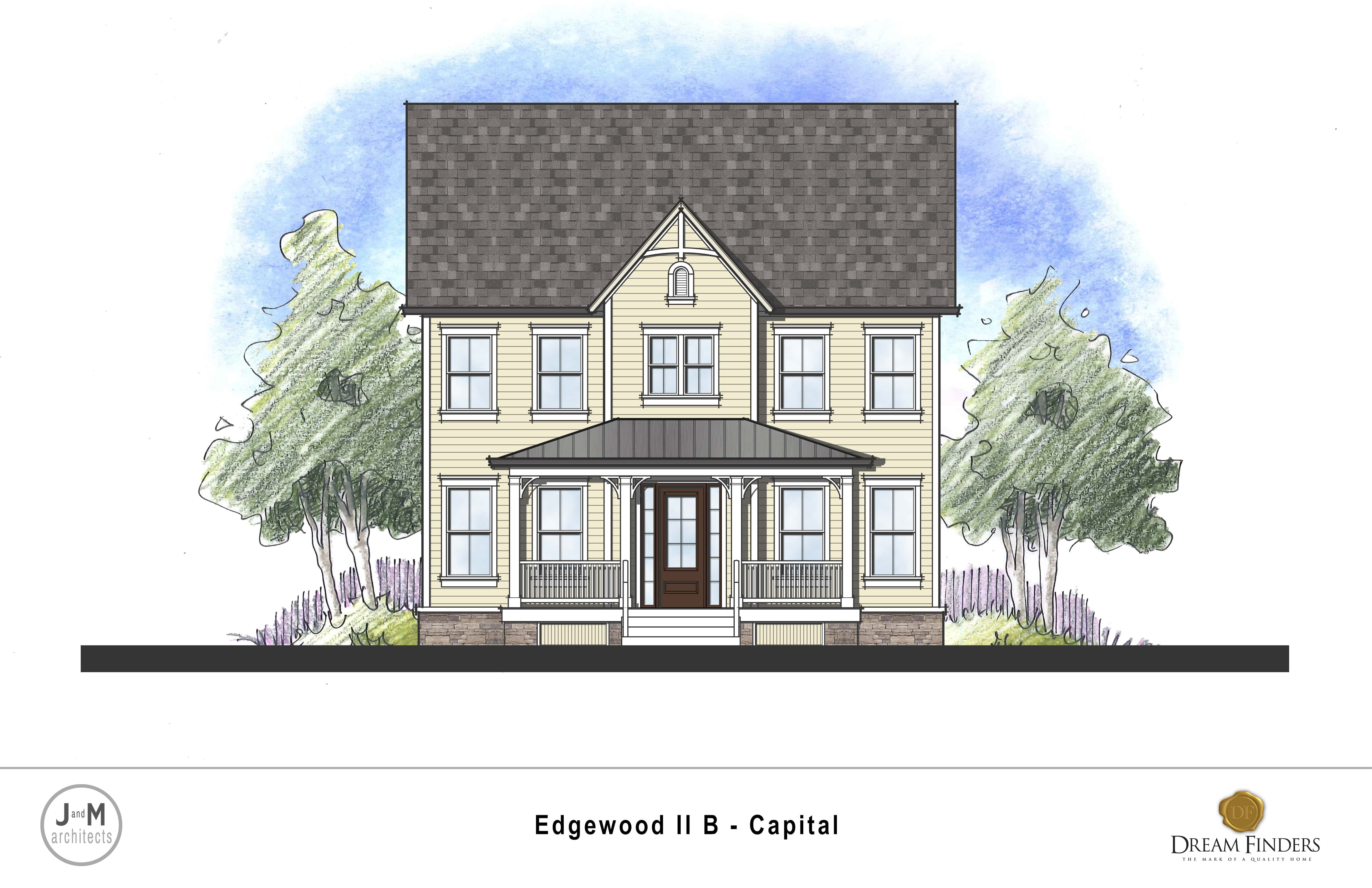 Exterior featured in the Edgewood II By Dream Finders Homes in Washington, MD