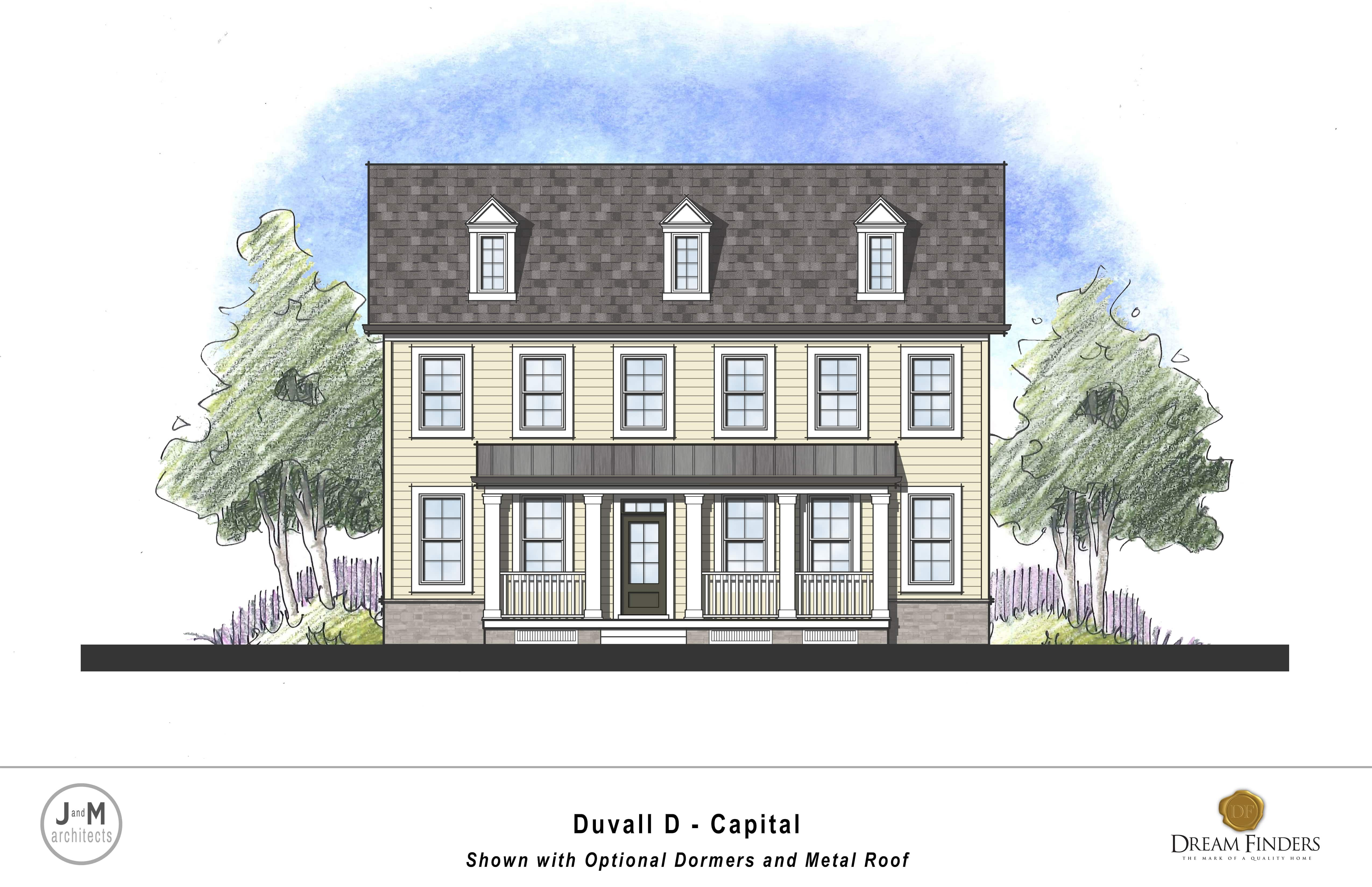 Exterior featured in the Duvall By Dream Finders Homes in Washington, MD
