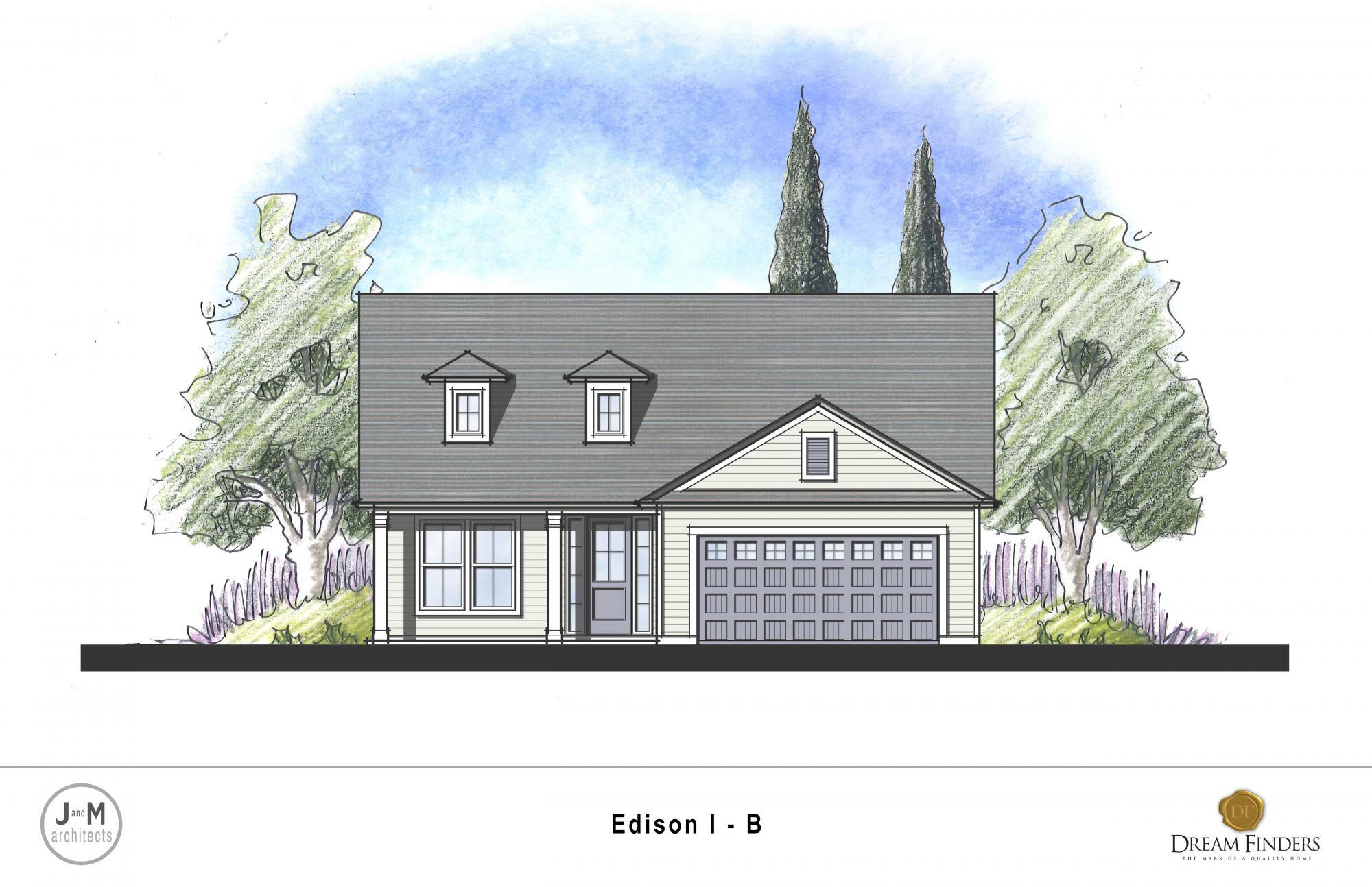 Exterior featured in the Edison By Dream Finders Homes in Savannah, GA