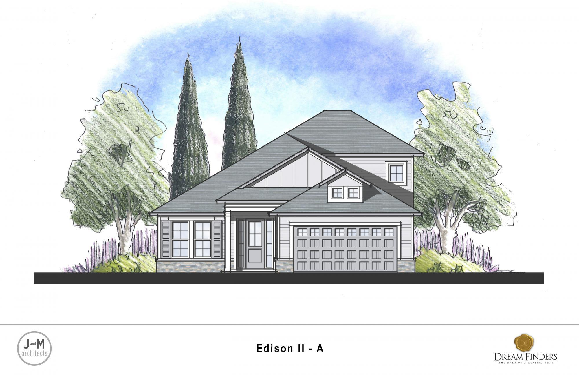 Exterior featured in the Edison II By Dream Finders Homes in Savannah, GA