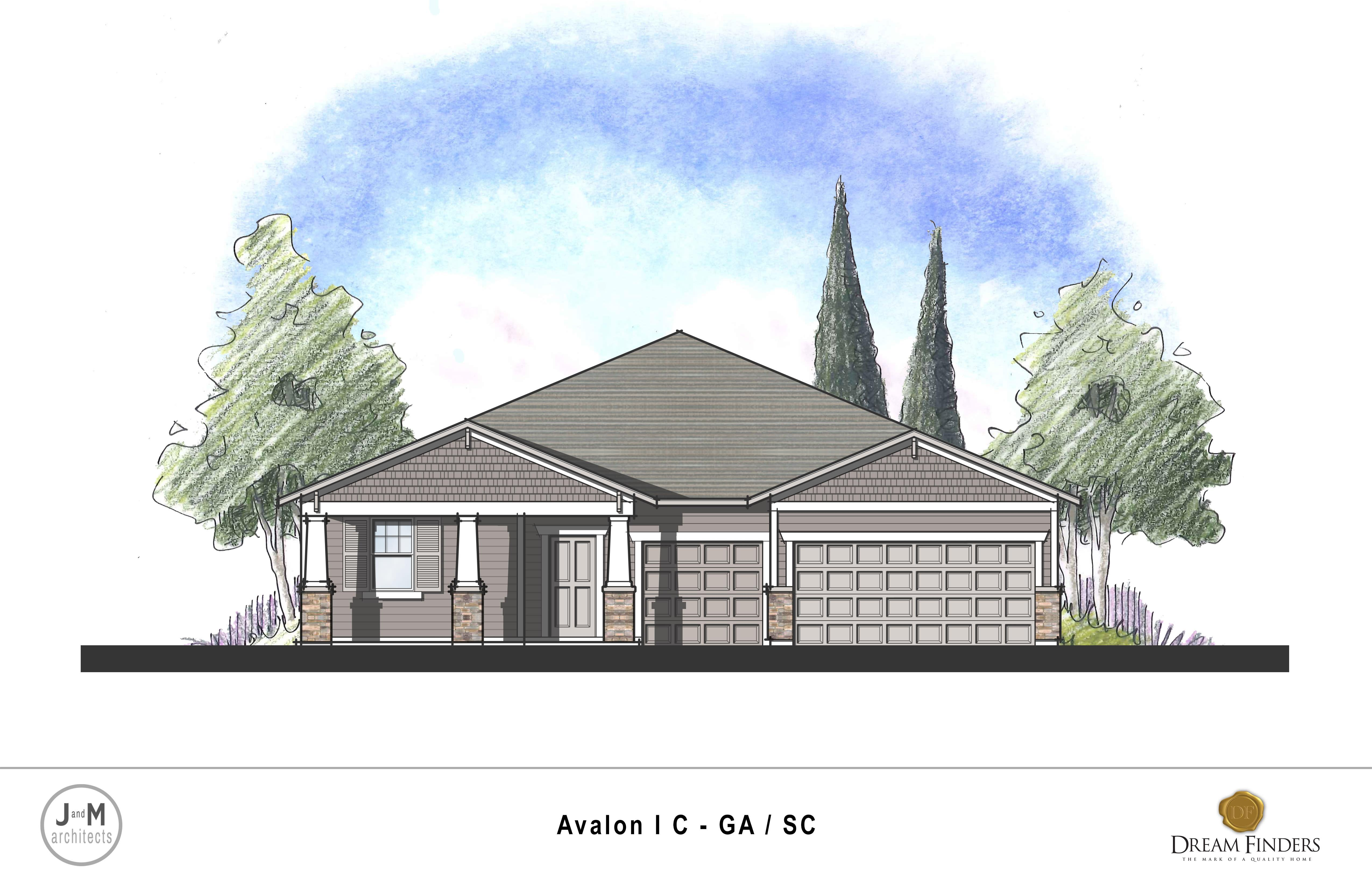 Exterior featured in the Avalon By Dream Finders Homes in Savannah, GA