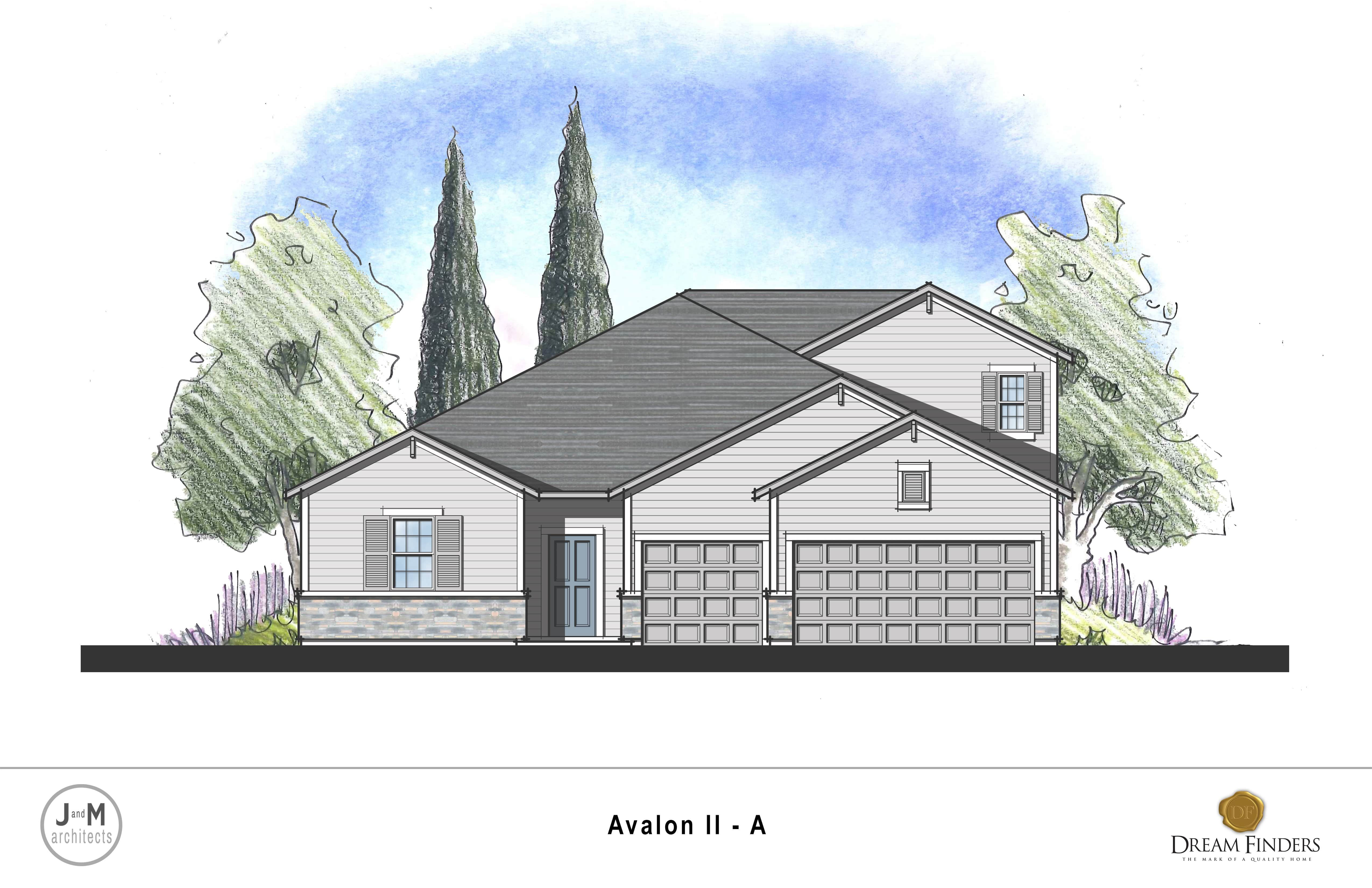 Exterior featured in the Avalon II By Dream Finders Homes in Savannah, GA