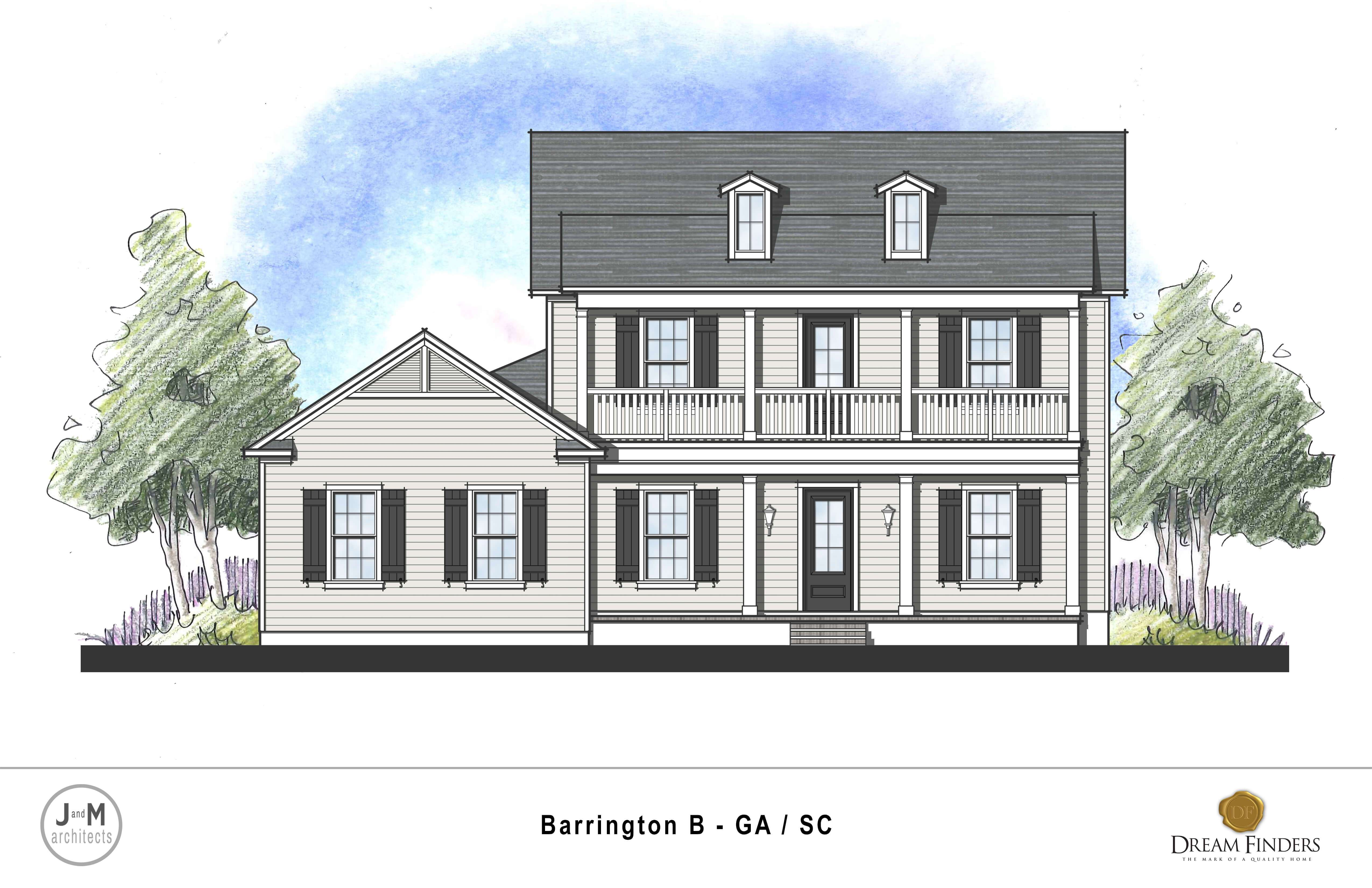Exterior featured in the Barrington By Dream Finders Homes in Savannah, GA