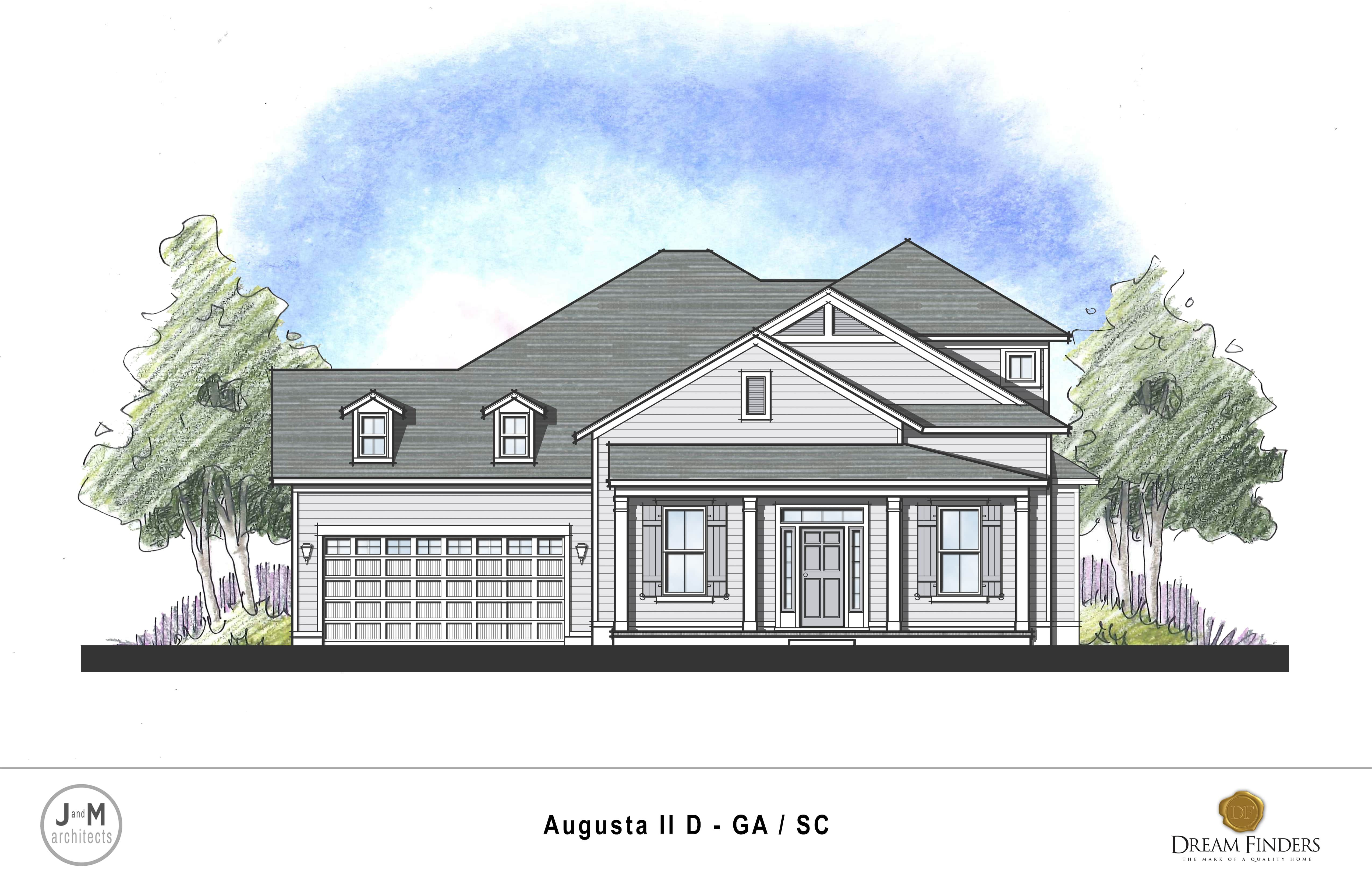 Exterior featured in the Augusta II By Dream Finders Homes in Savannah, GA