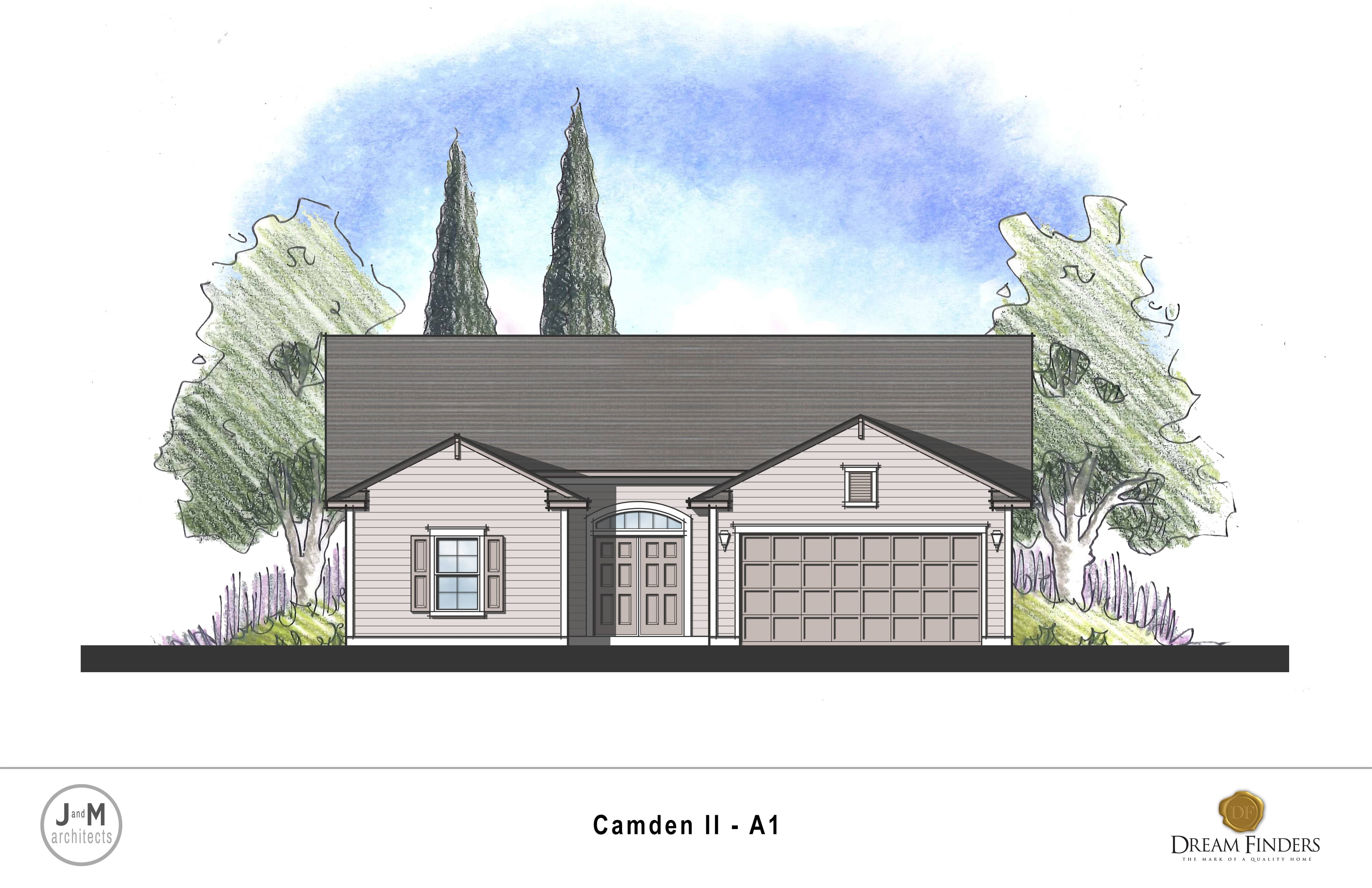 Exterior featured in the Camden II By Dream Finders Homes in Savannah, GA