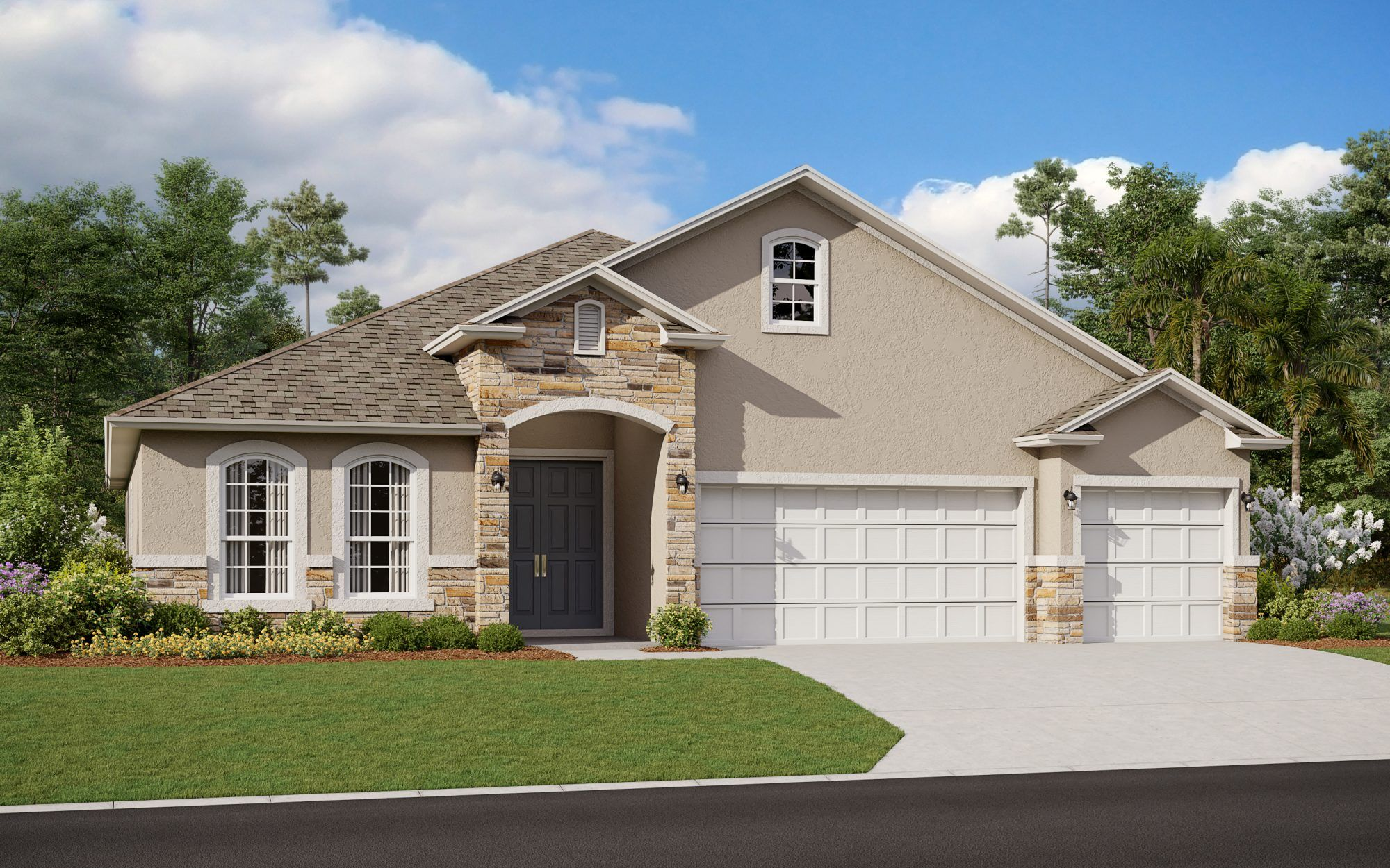 Exterior featured in the Avalon By Dream Finders Homes in Orlando, FL