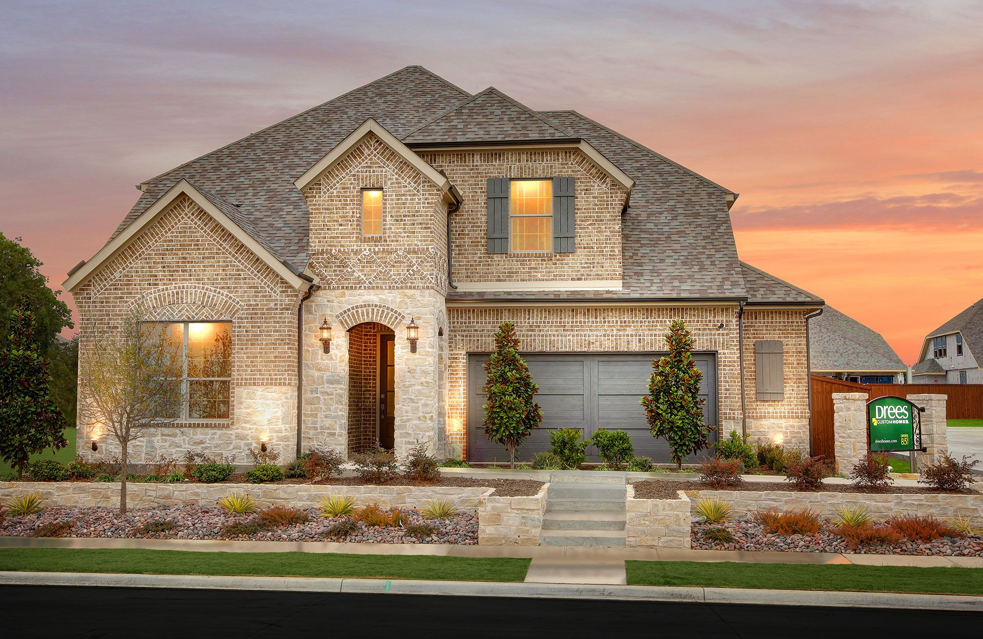 Exterior featured in the Tiana By Drees Custom Homes in Dallas, TX