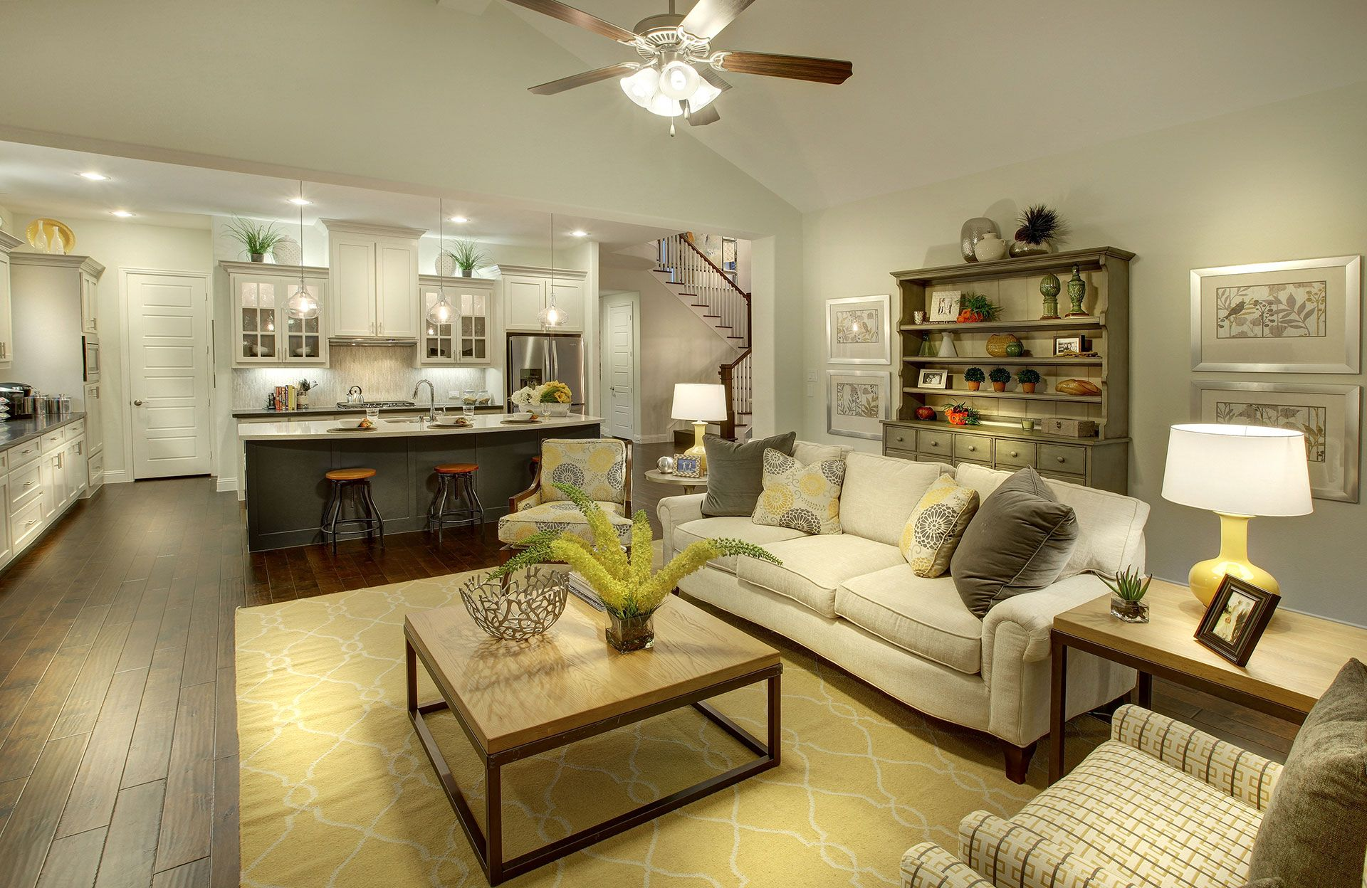 Living Area featured in the Tiana By Drees Custom Homes in Dallas, TX