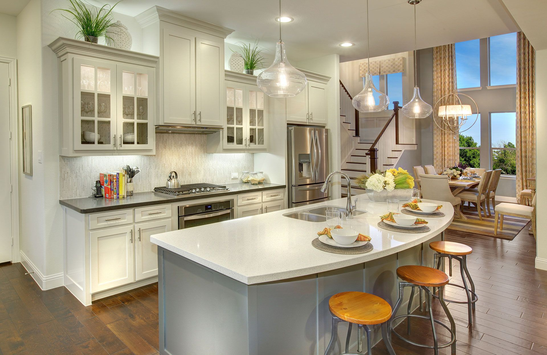 Kitchen featured in the Tiana By Drees Custom Homes in Dallas, TX