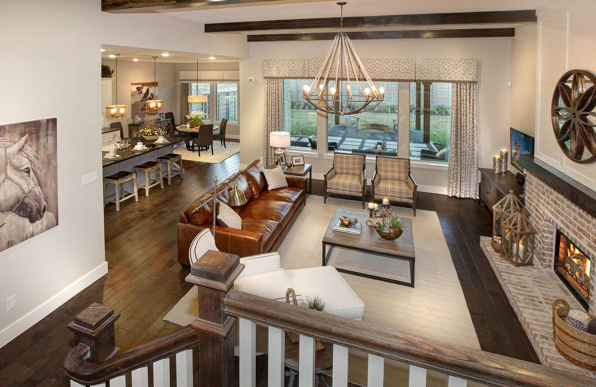 Living Area featured in the Tanner By Drees Custom Homes in Dallas, TX