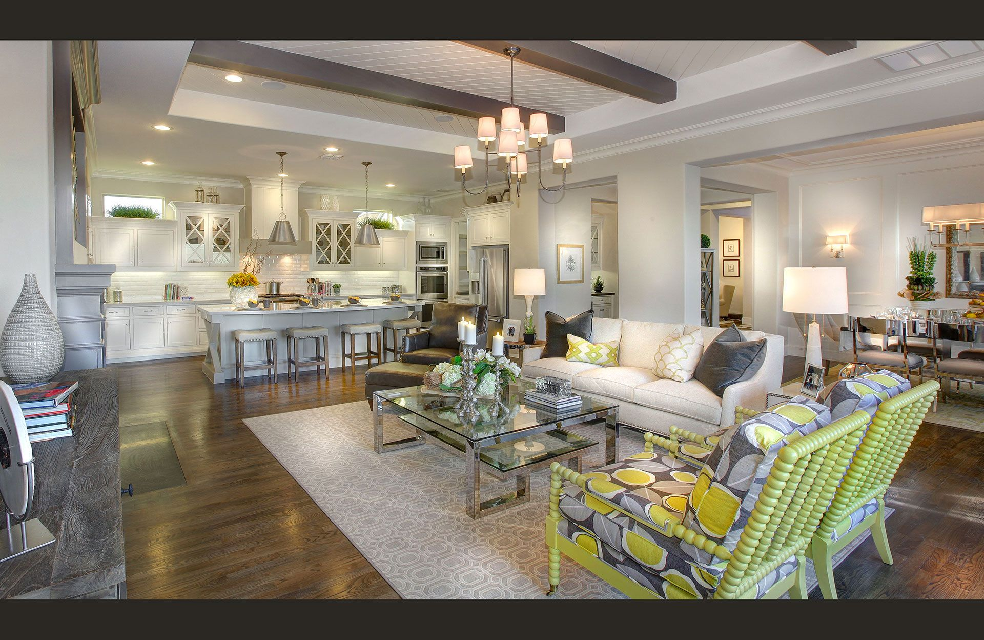 Living Area featured in the Cambria II By Drees Custom Homes in Dallas, TX