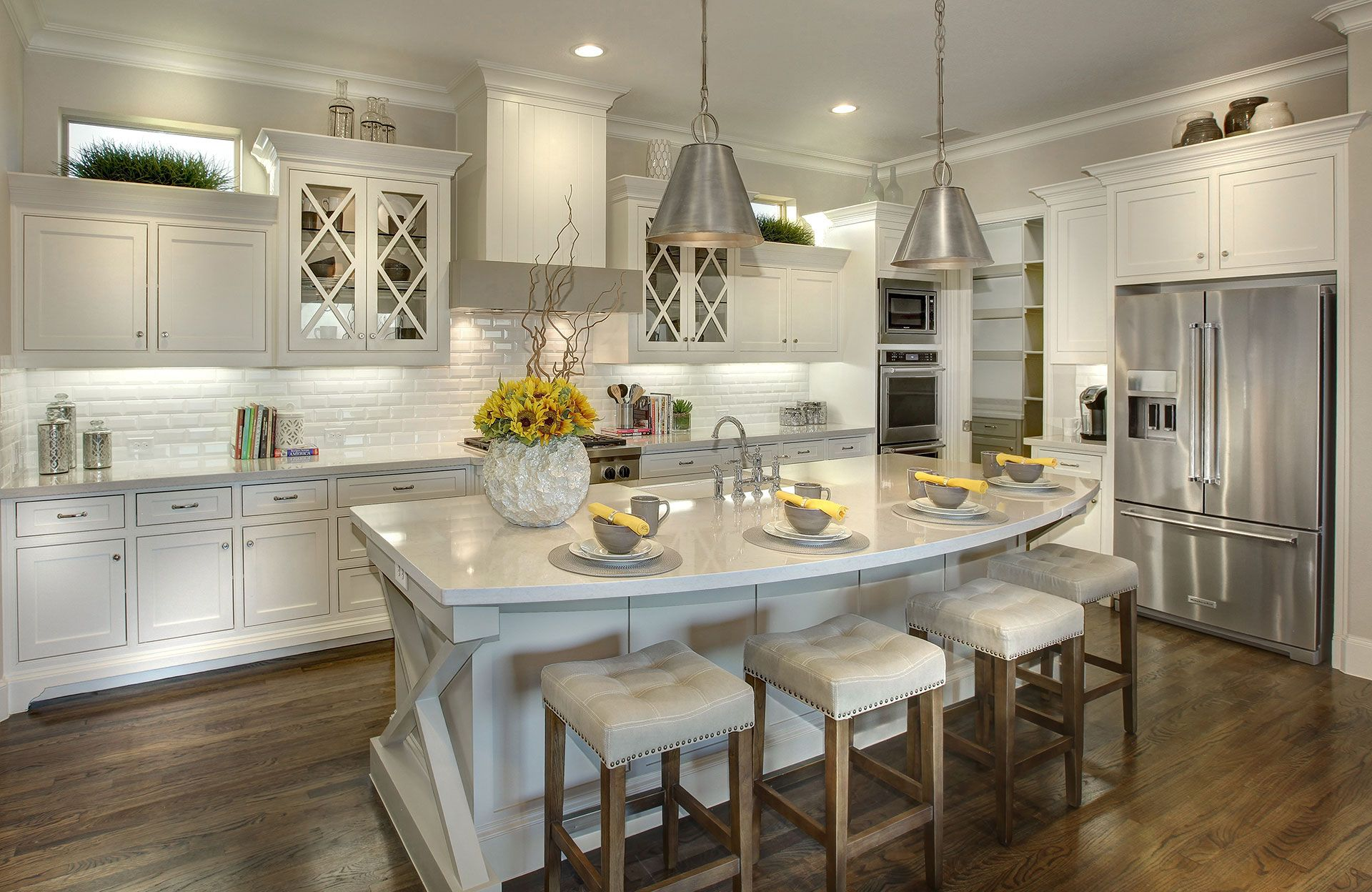Kitchen featured in the Cambria II By Drees Custom Homes in Dallas, TX
