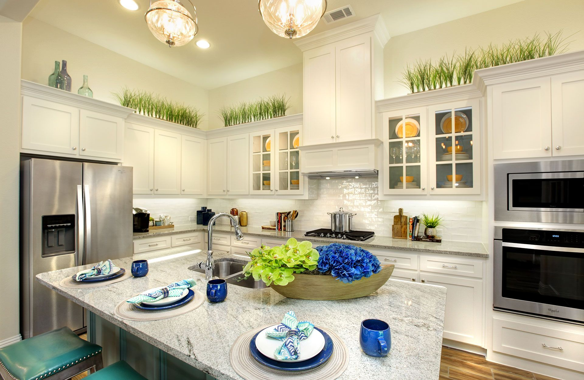 Kitchen featured in the Rosella By Drees Custom Homes in Dallas, TX