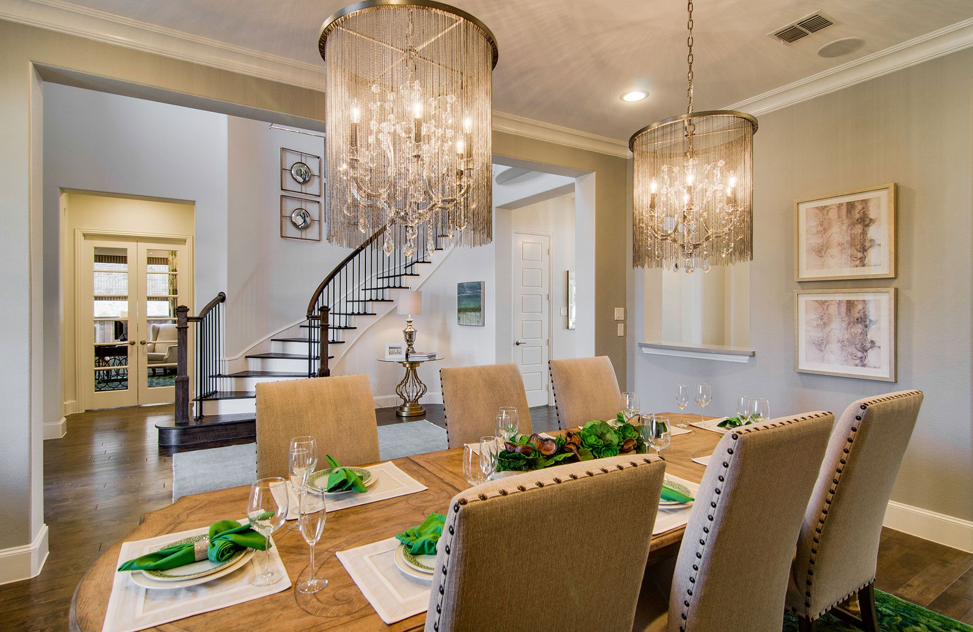 Living Area featured in the Brinkley By Drees Custom Homes in Dallas, TX