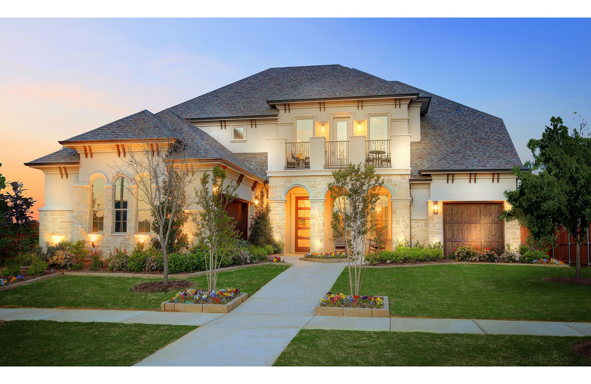 Exterior featured in the Brinkley By Drees Custom Homes in Dallas, TX