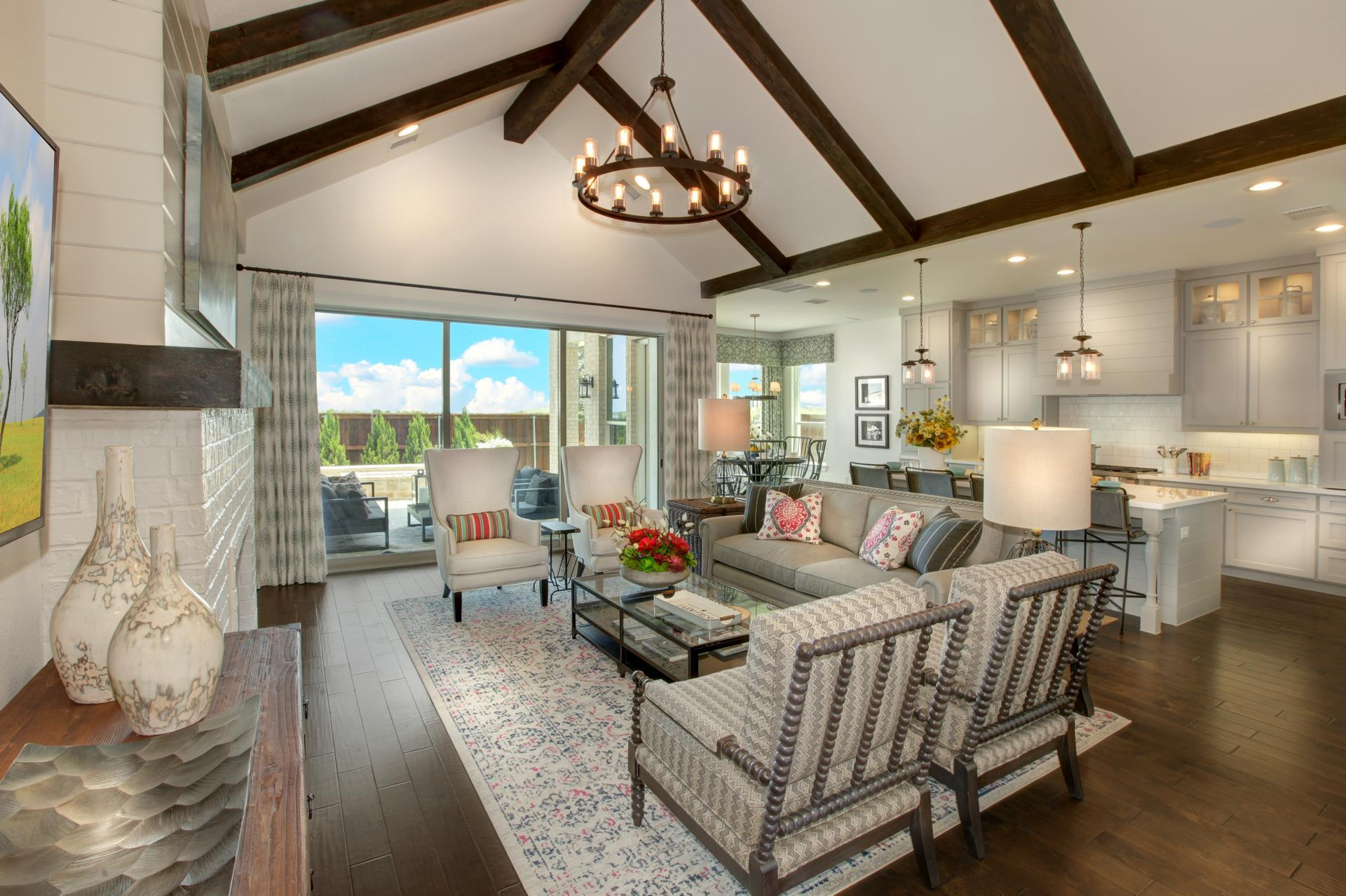 Living Area featured in the Bracken W By Drees Custom Homes in Fort Worth, TX