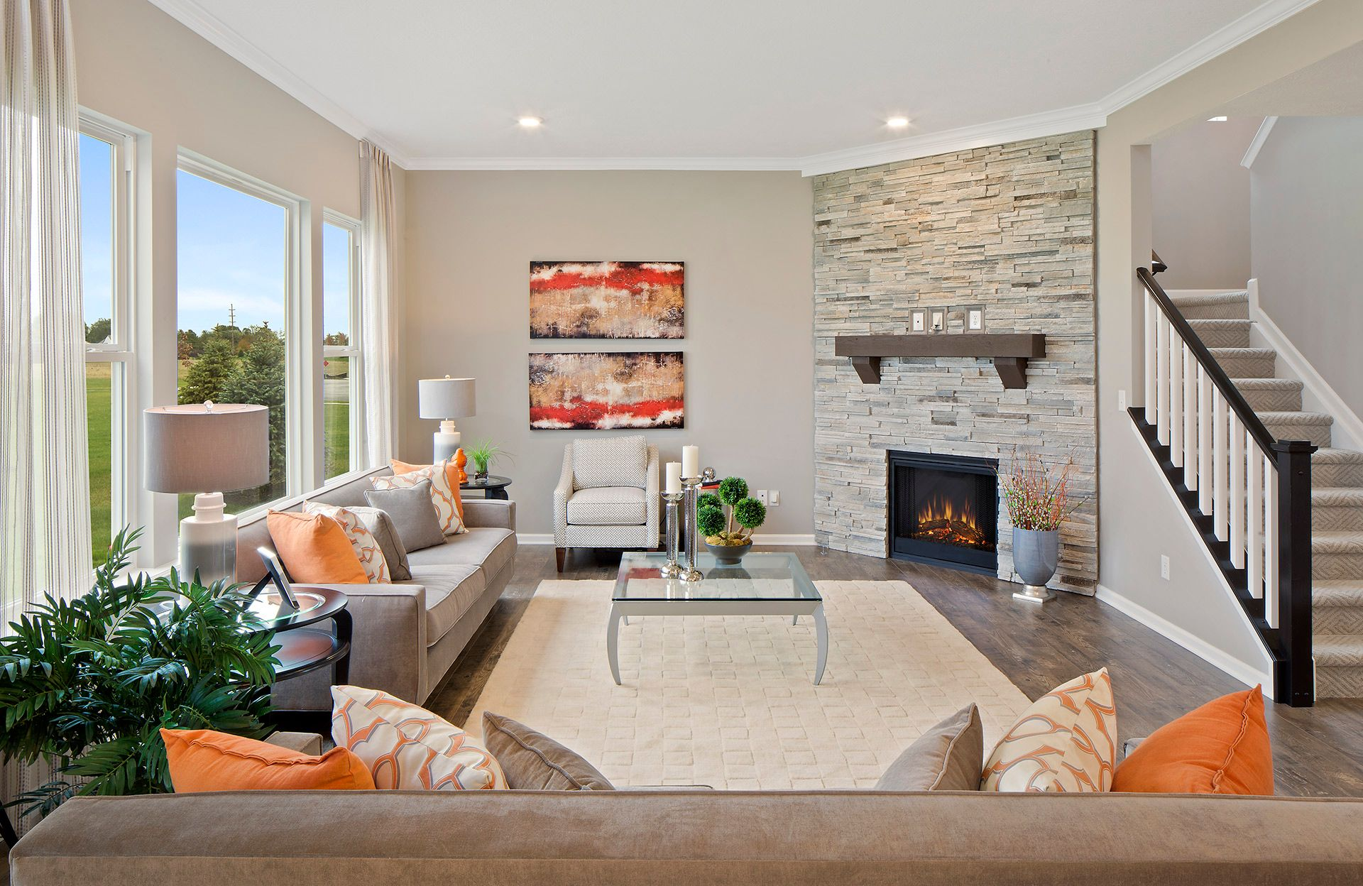 Greatroom-and-Dining-in-Belleville-at-Woodcreek Crossing Community-in-Avon