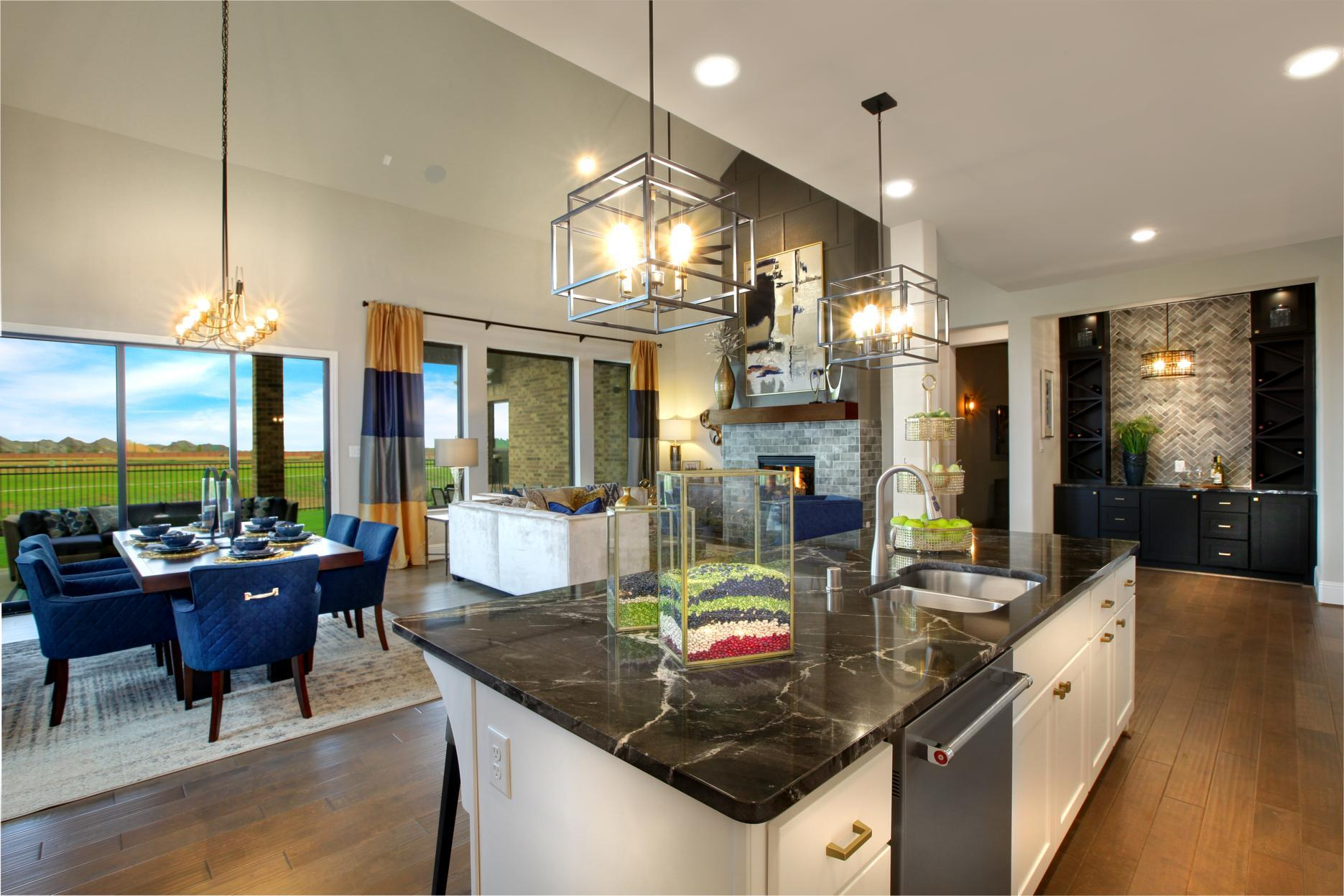 Greatroom-and-Dining-in-Brynlee II-at-Grand Central Park-in-Conroe