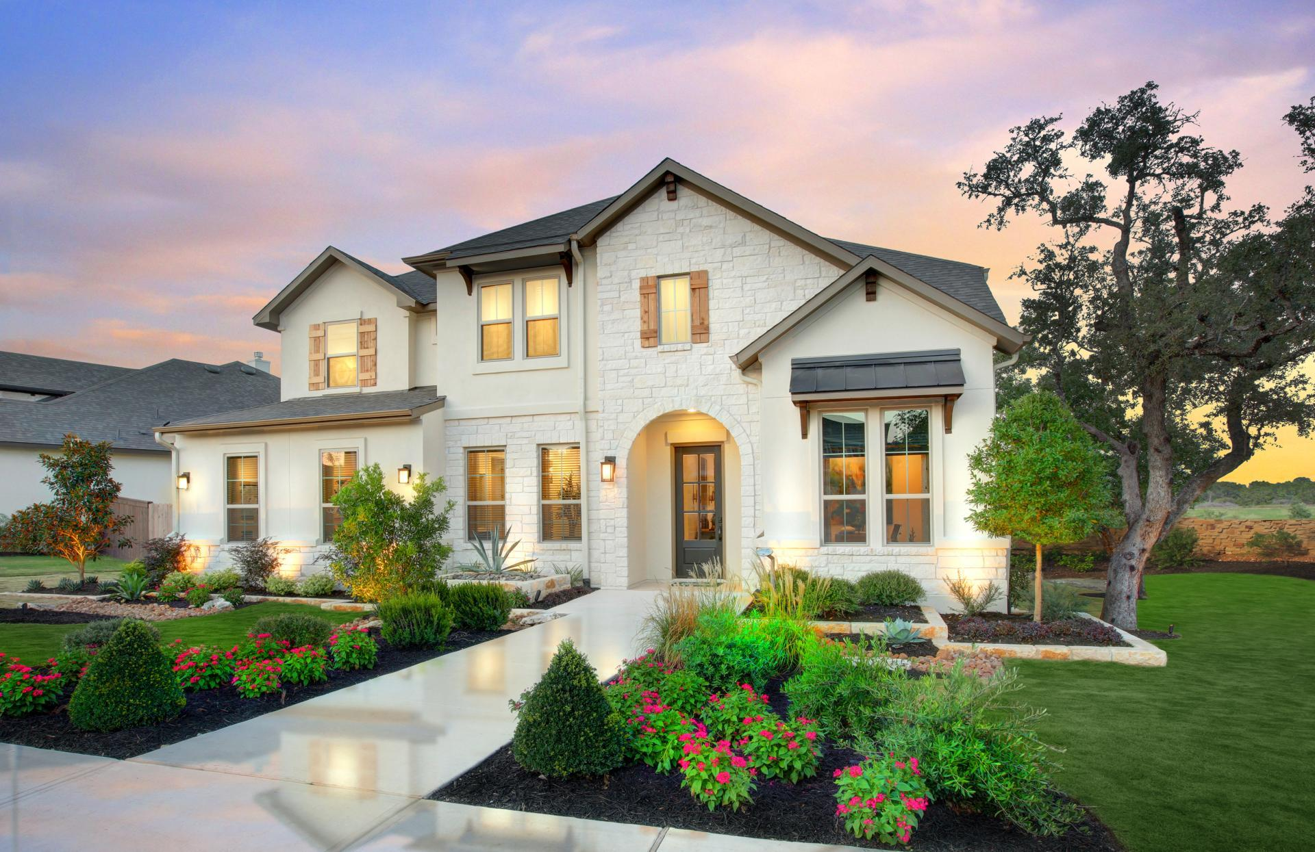 Exterior featured in the Sumlin By Drees Custom Homes in Austin, TX