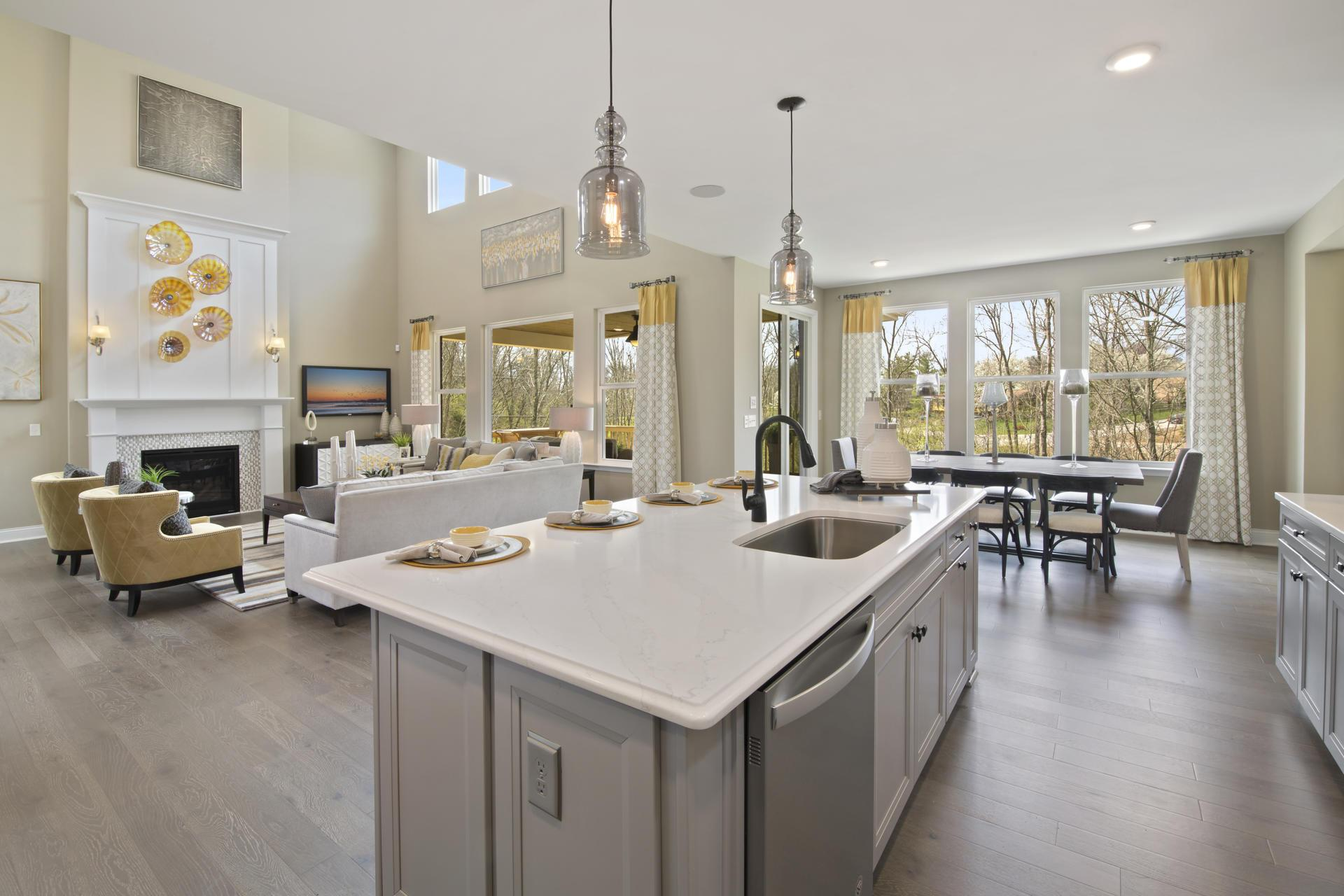 Living Area featured in the Ash Lawn By Drees Homes in Cleveland, OH