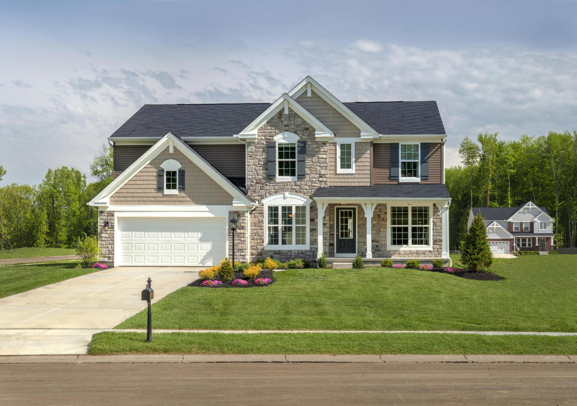 Exterior featured in the Quentin By Drees Homes in Cincinnati, OH
