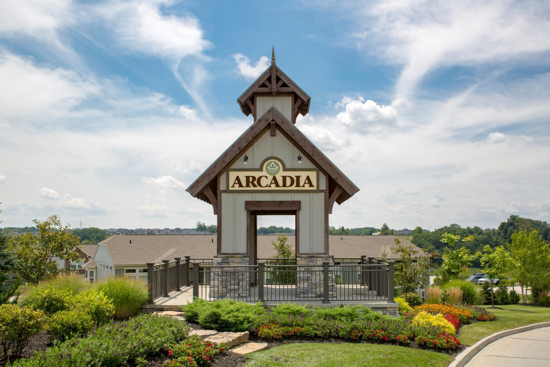 The Arcadia Community Entrance
