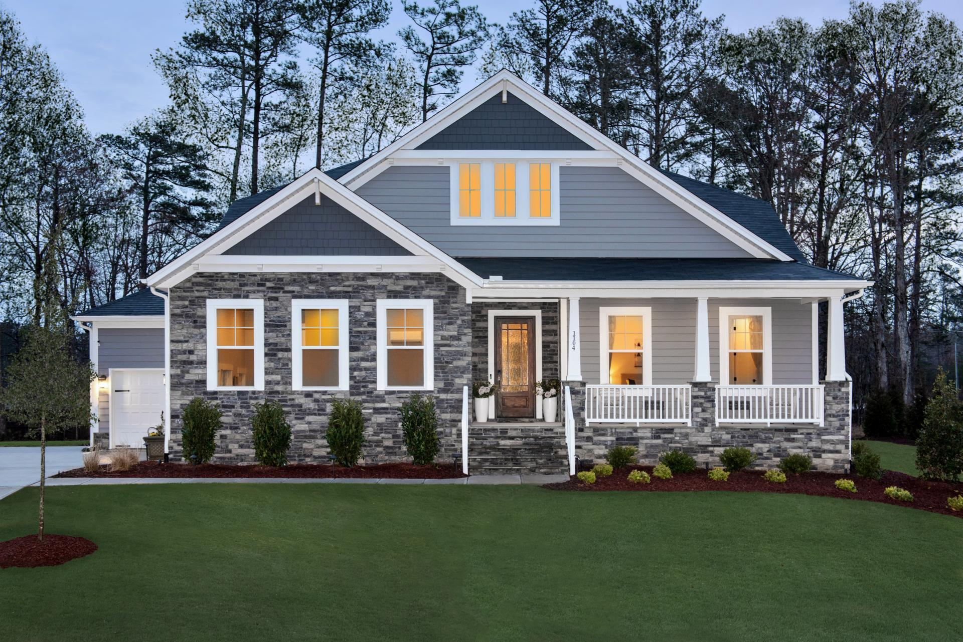 Exterior featured in the Woodbury By Drees Homes in Raleigh-Durham-Chapel Hill, NC