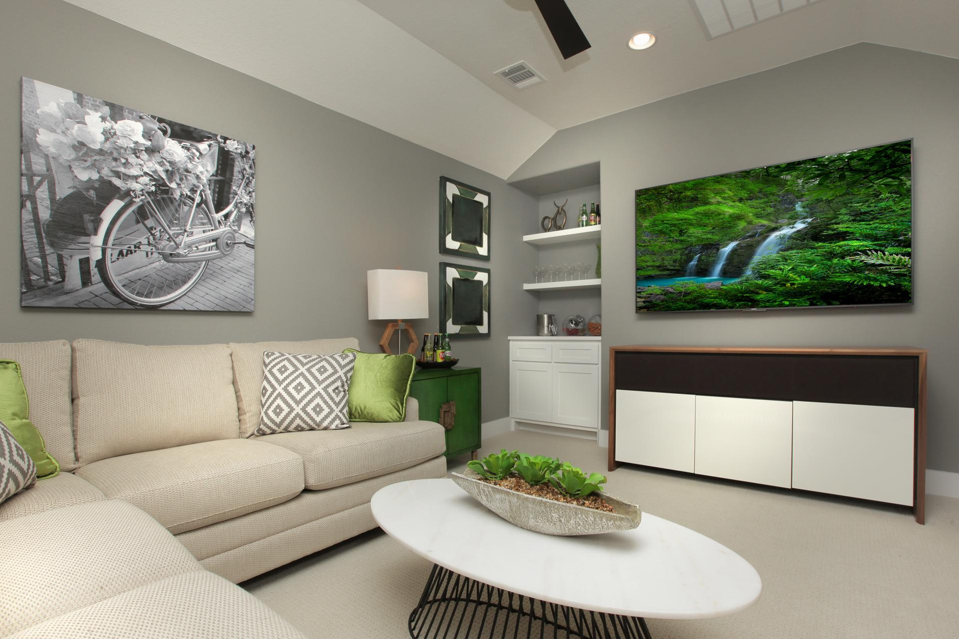 Living Area featured in the Brady By Drees Custom Homes in Houston, TX