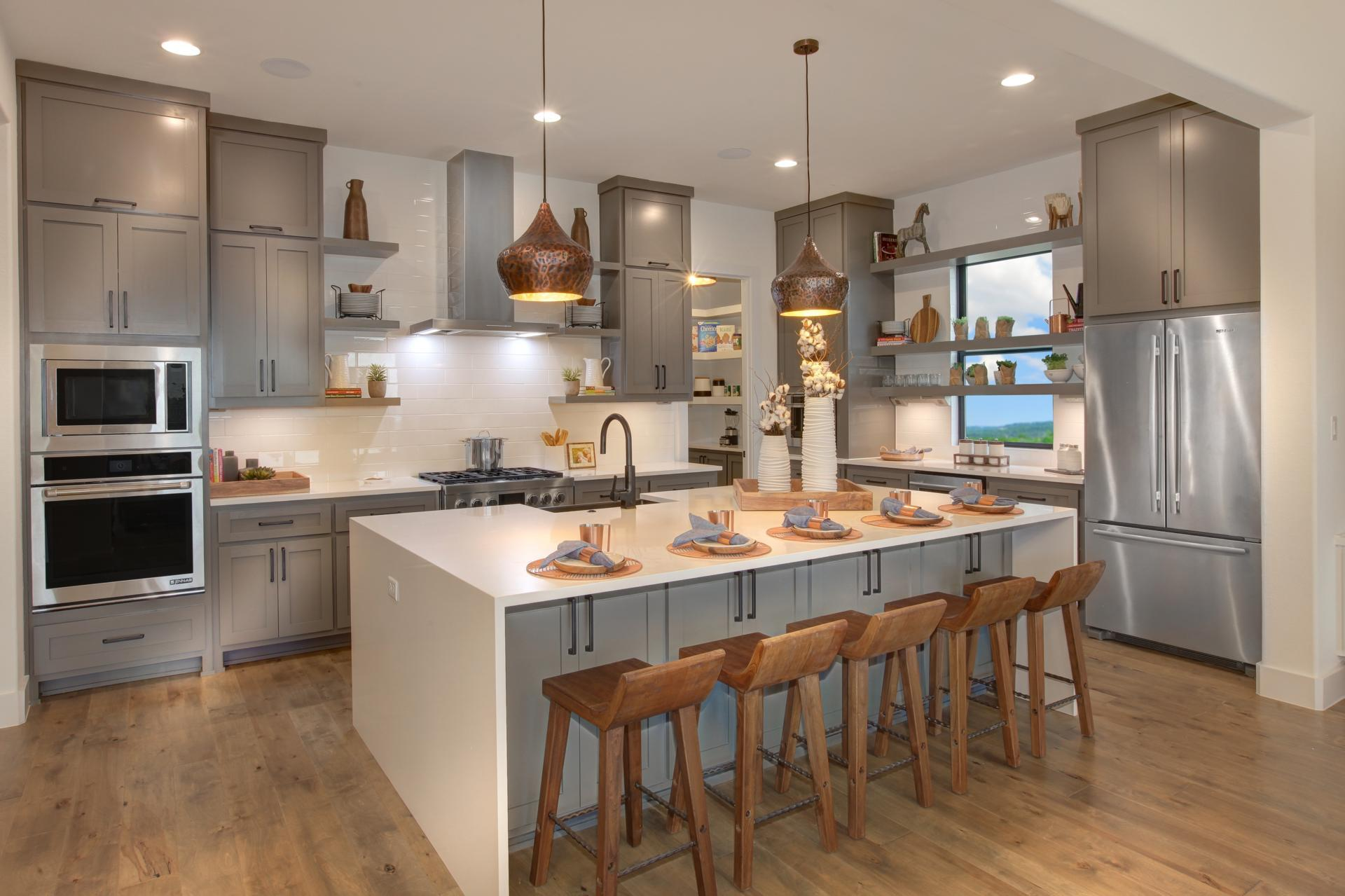 Kitchen featured in the Grantley By Drees Custom Homes in Houston, TX