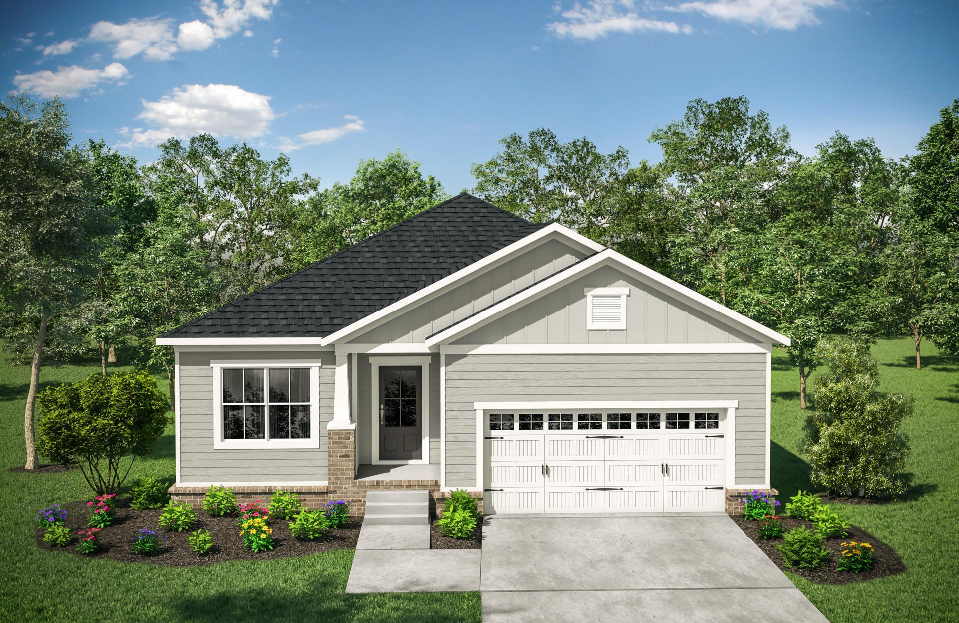Exterior featured in the Oakland By Drees Homes in Nashville, TN