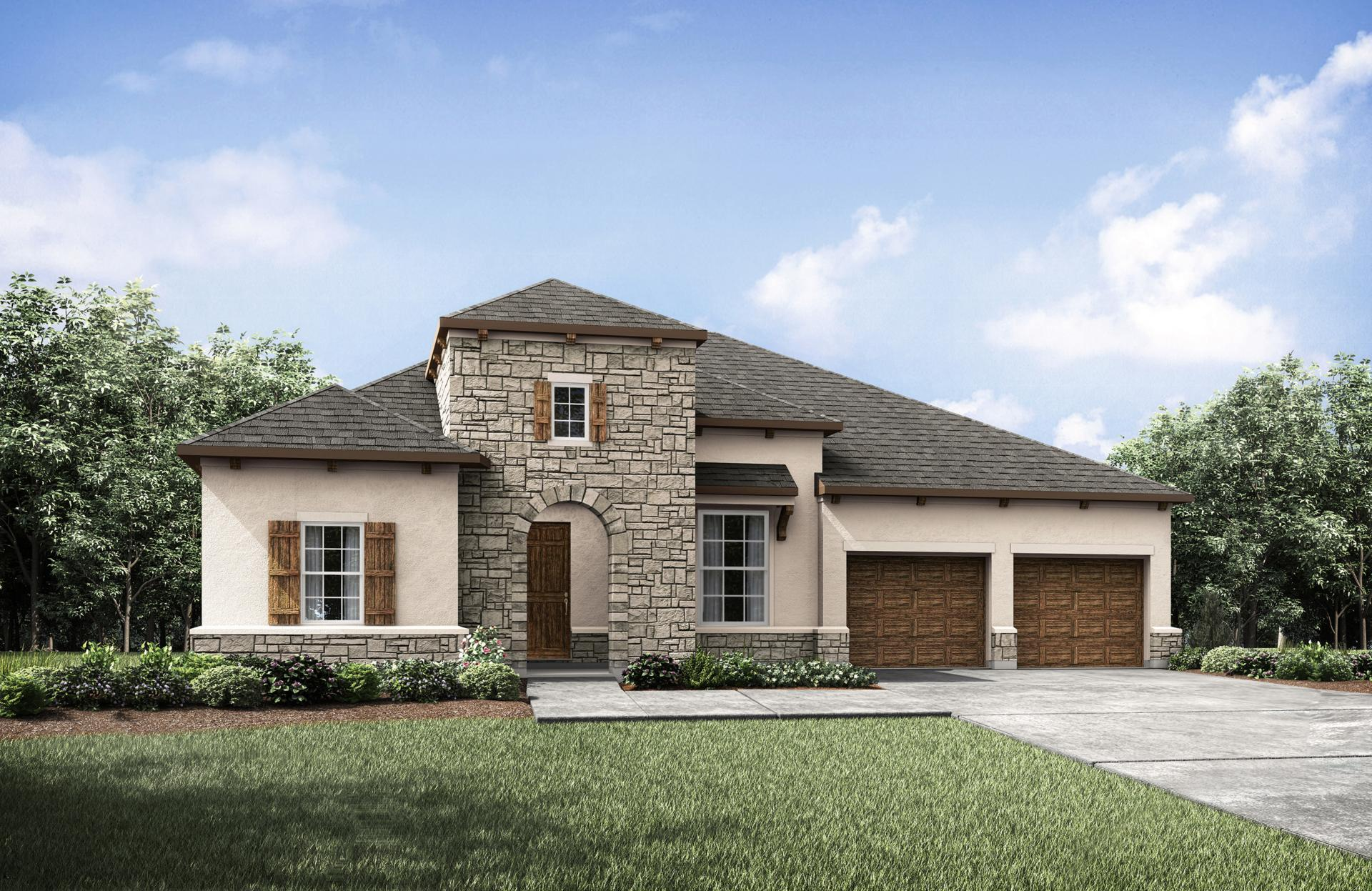 Exterior featured in the Tinsley By Drees Custom Homes in Austin, TX