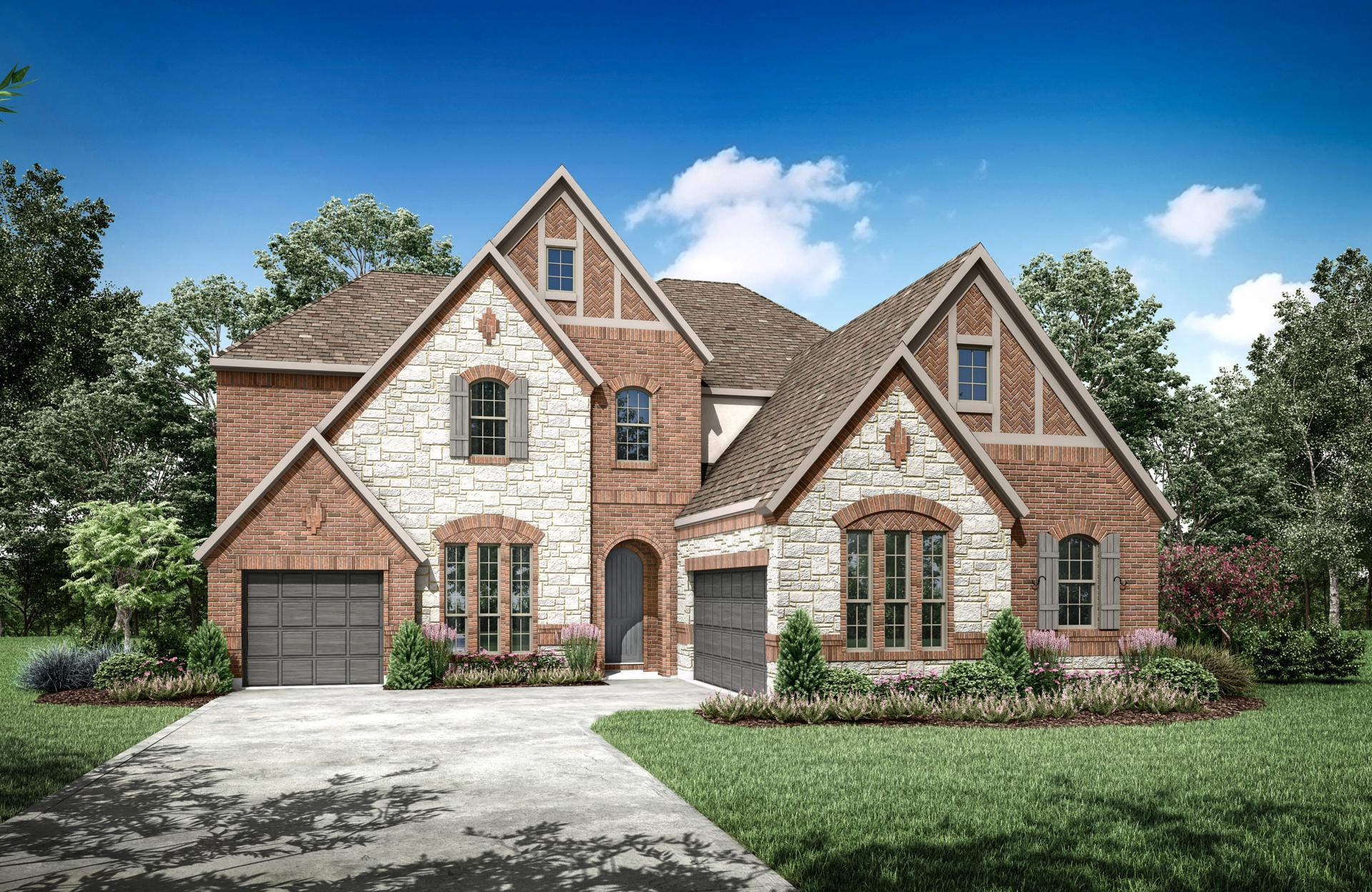Exterior featured in the Bracken III By Drees Custom Homes in Dallas, TX